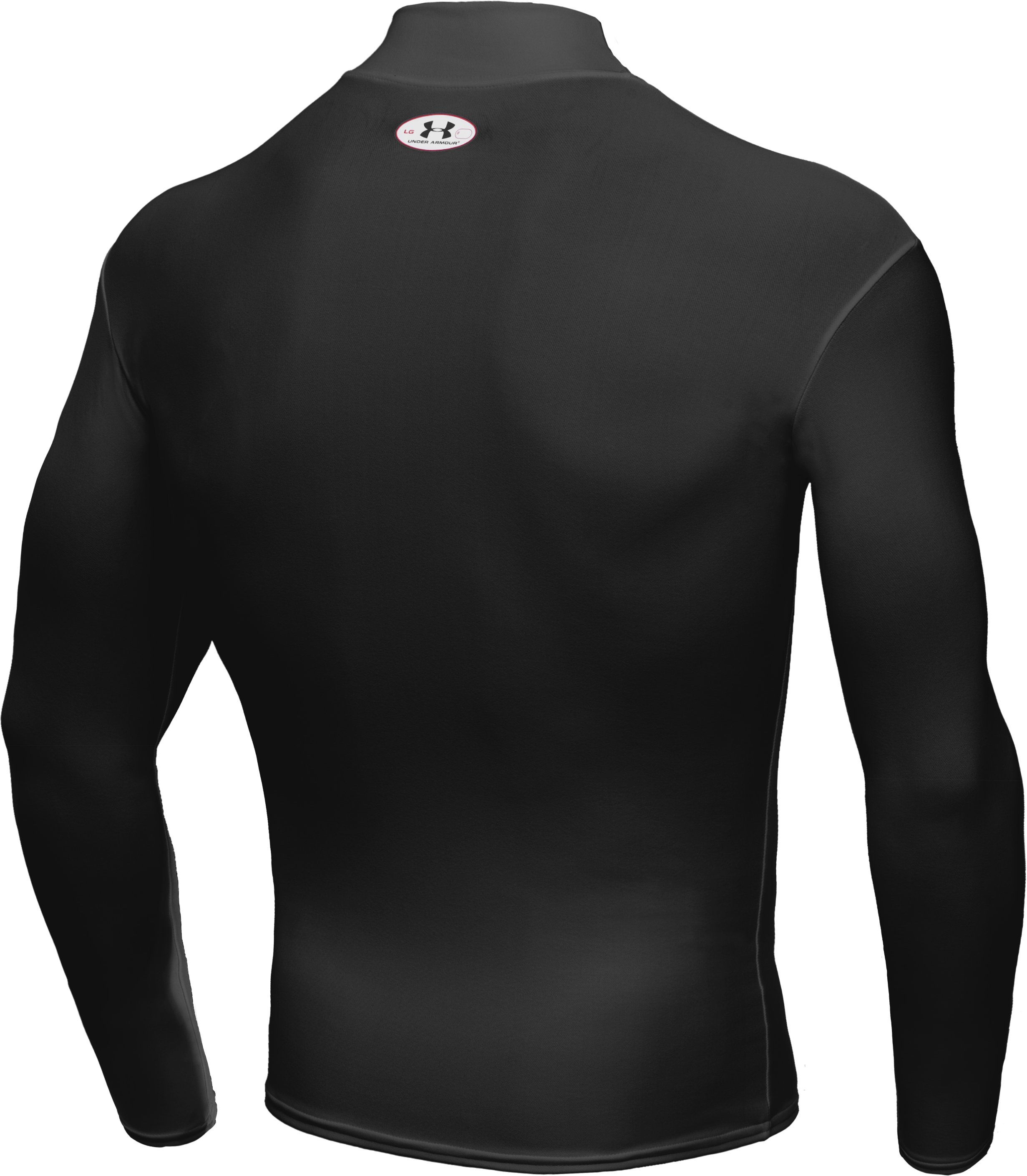 Men's ColdGear® Long Sleeve Compression Mock, Black