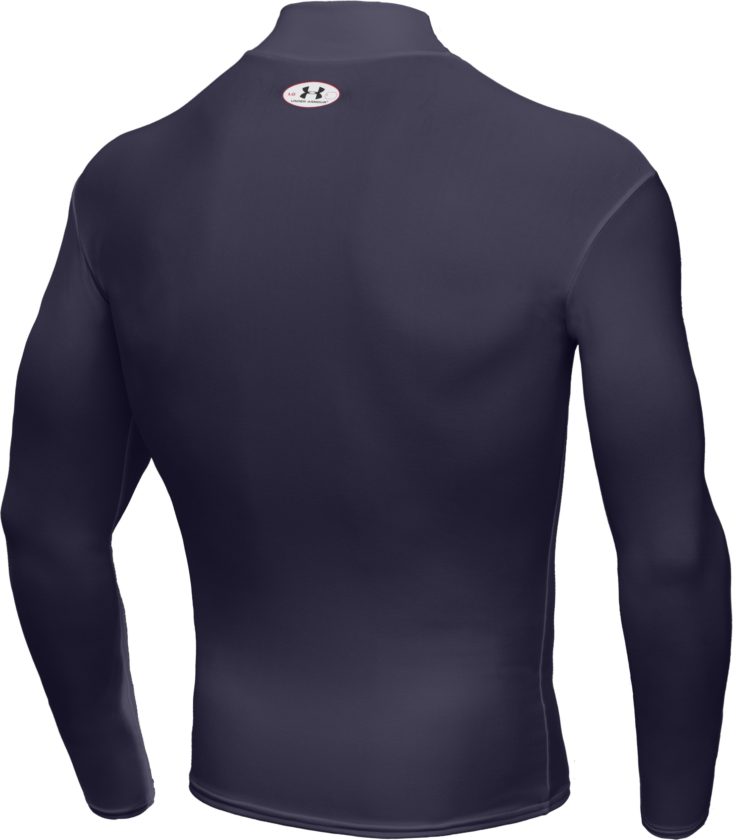 Men's ColdGear® Long Sleeve Compression Mock, Midnight Navy, undefined