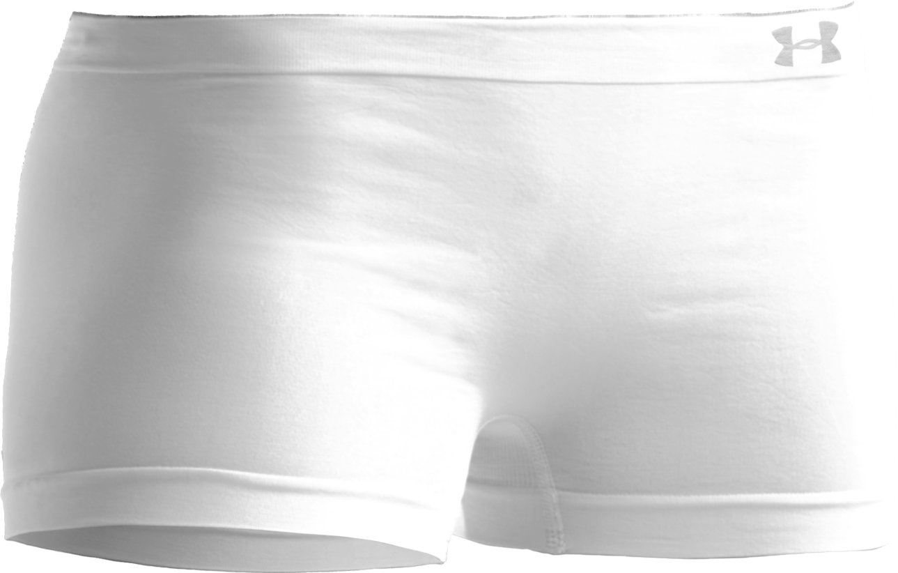 Women's UA Active Boy Shorts Underwear, White
