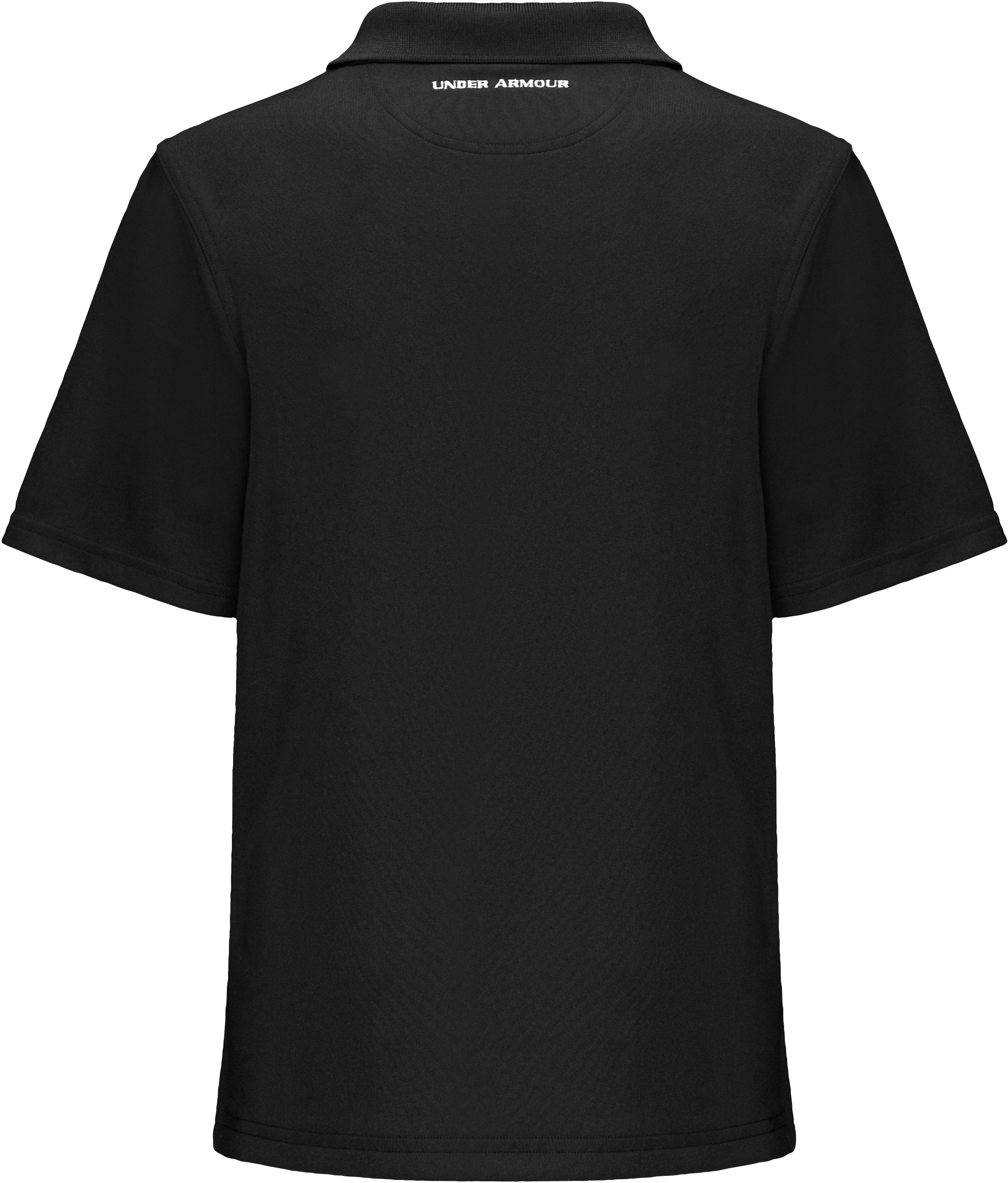 Boys' Short Sleeve UA Performance Polo, Black