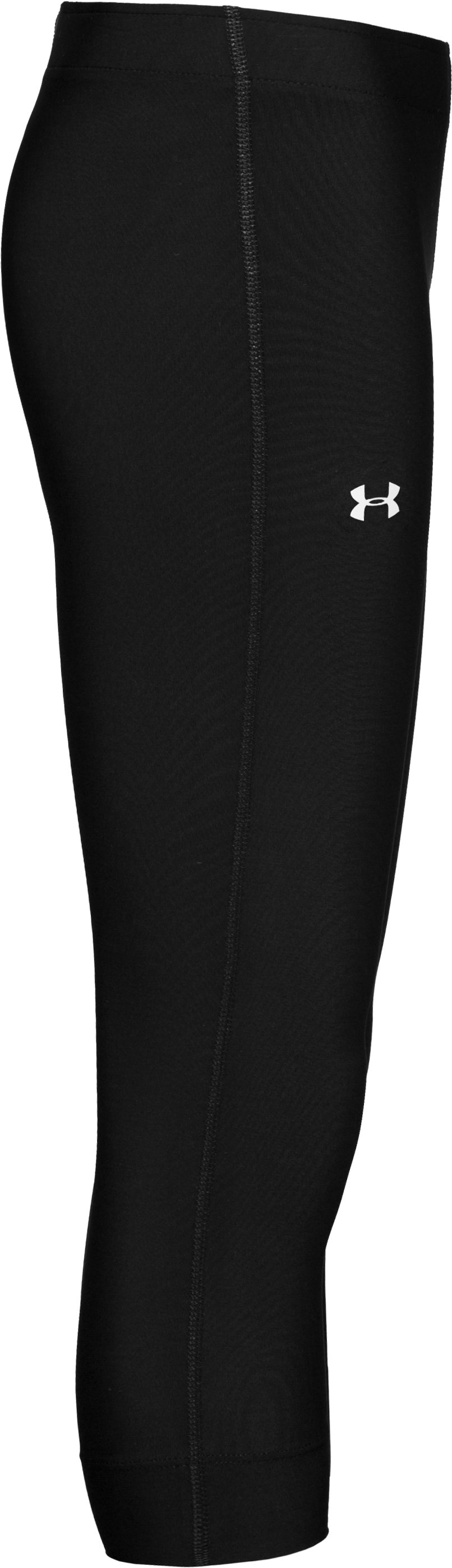Girls' HeatGear® Compression Capri Pants, Black