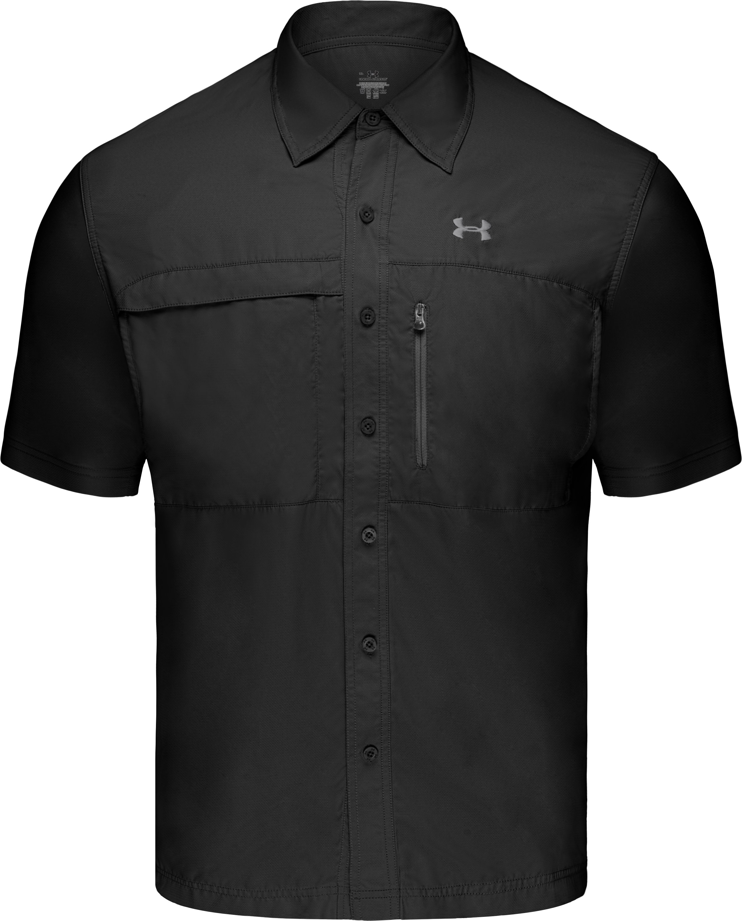Men's Flats Guide Short Sleeve Shirt, Black , undefined
