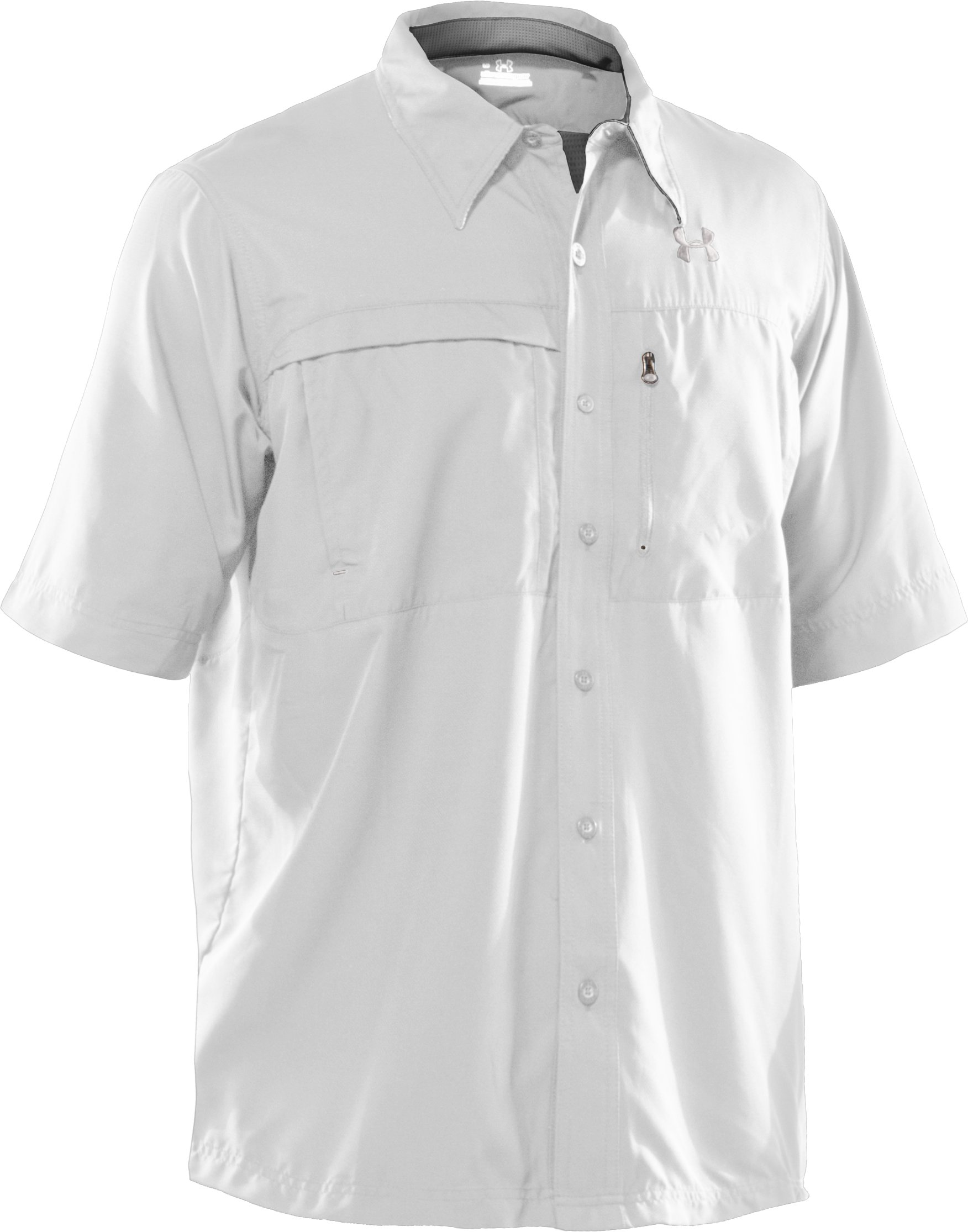 Men's Flats Guide Short Sleeve Shirt, White