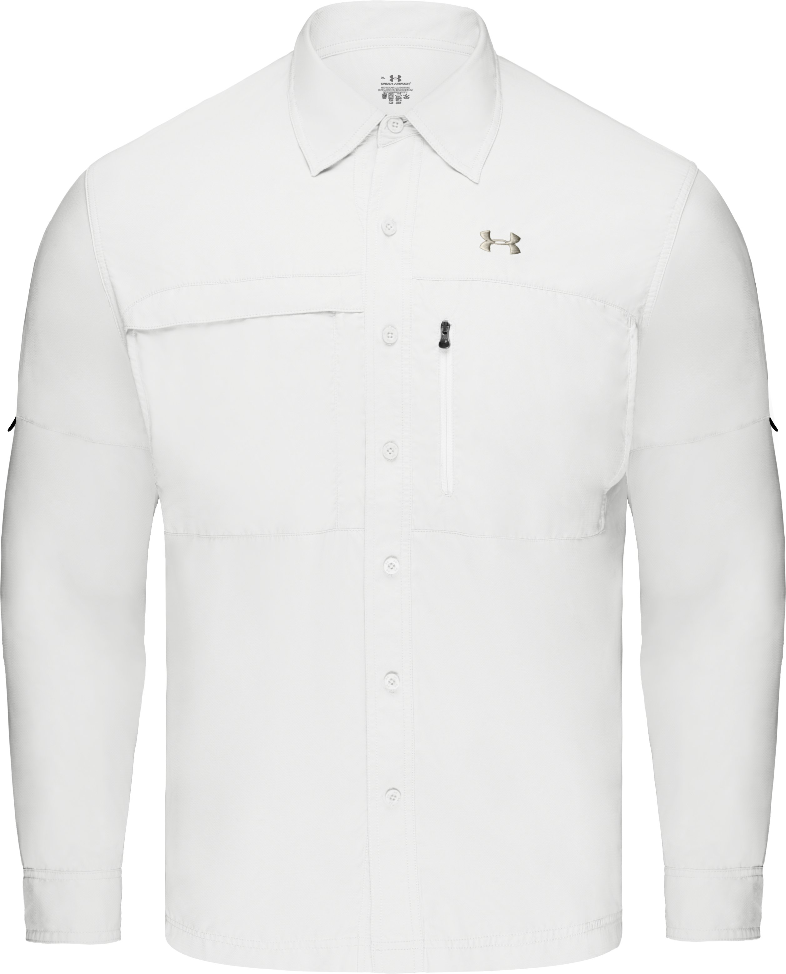 Men's Flats Guide Long Sleeve Shirt, White, undefined