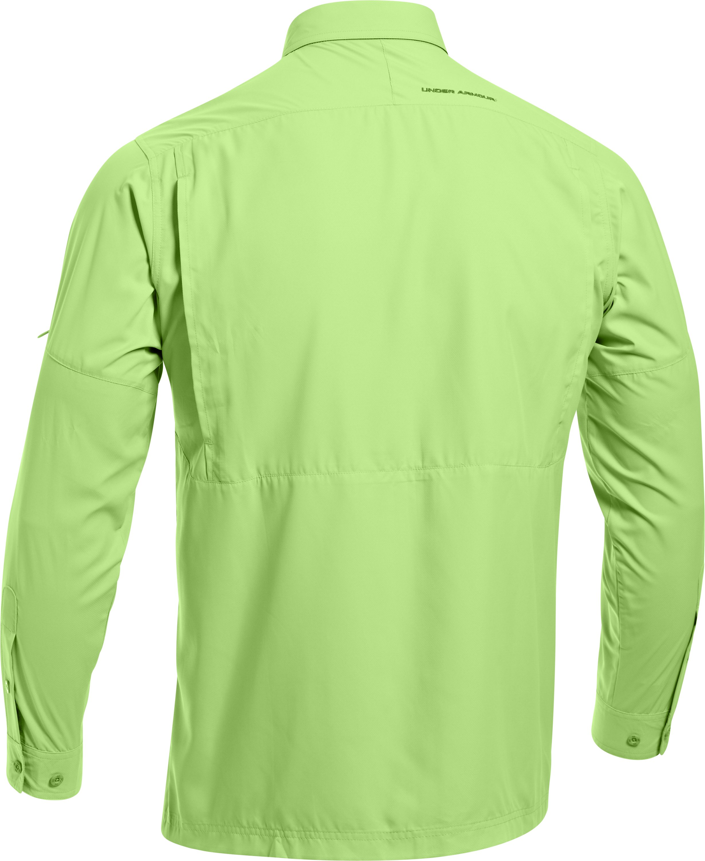Men's Flats Guide Long Sleeve Shirt, Celery, undefined