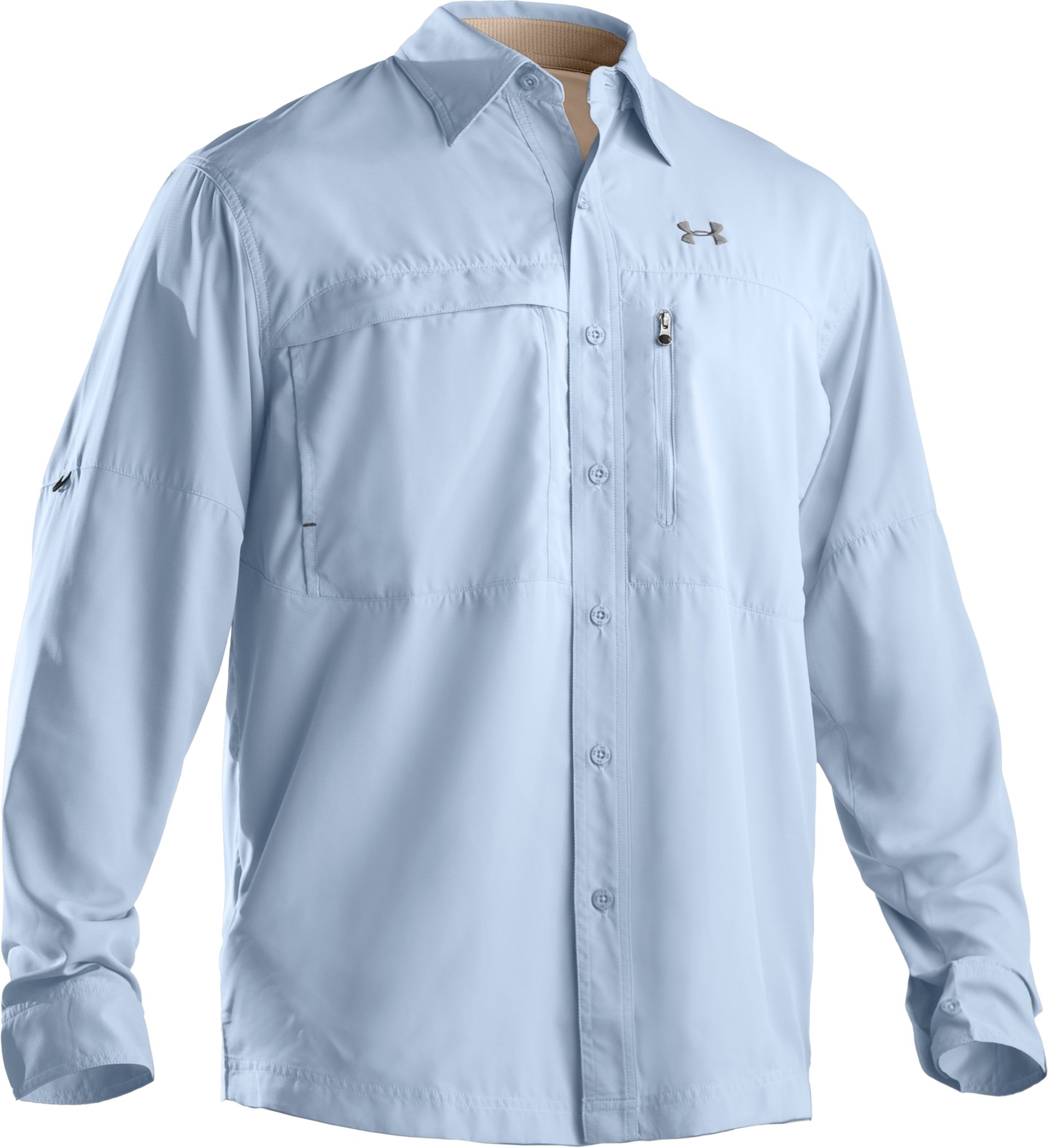 Men's Flats Guide Long Sleeve Shirt, Cirrus Blue