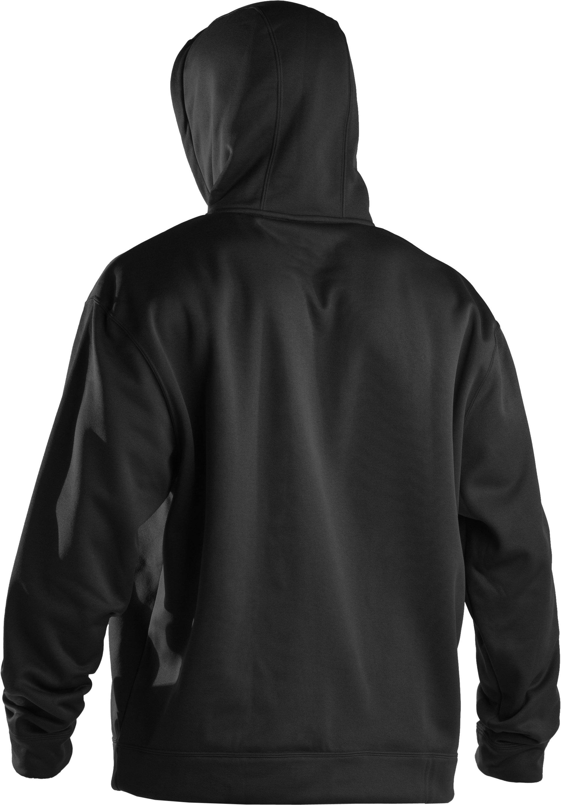 Men's UA Storm Armour® Fleece Tackle Twill Hoodie, Black ,