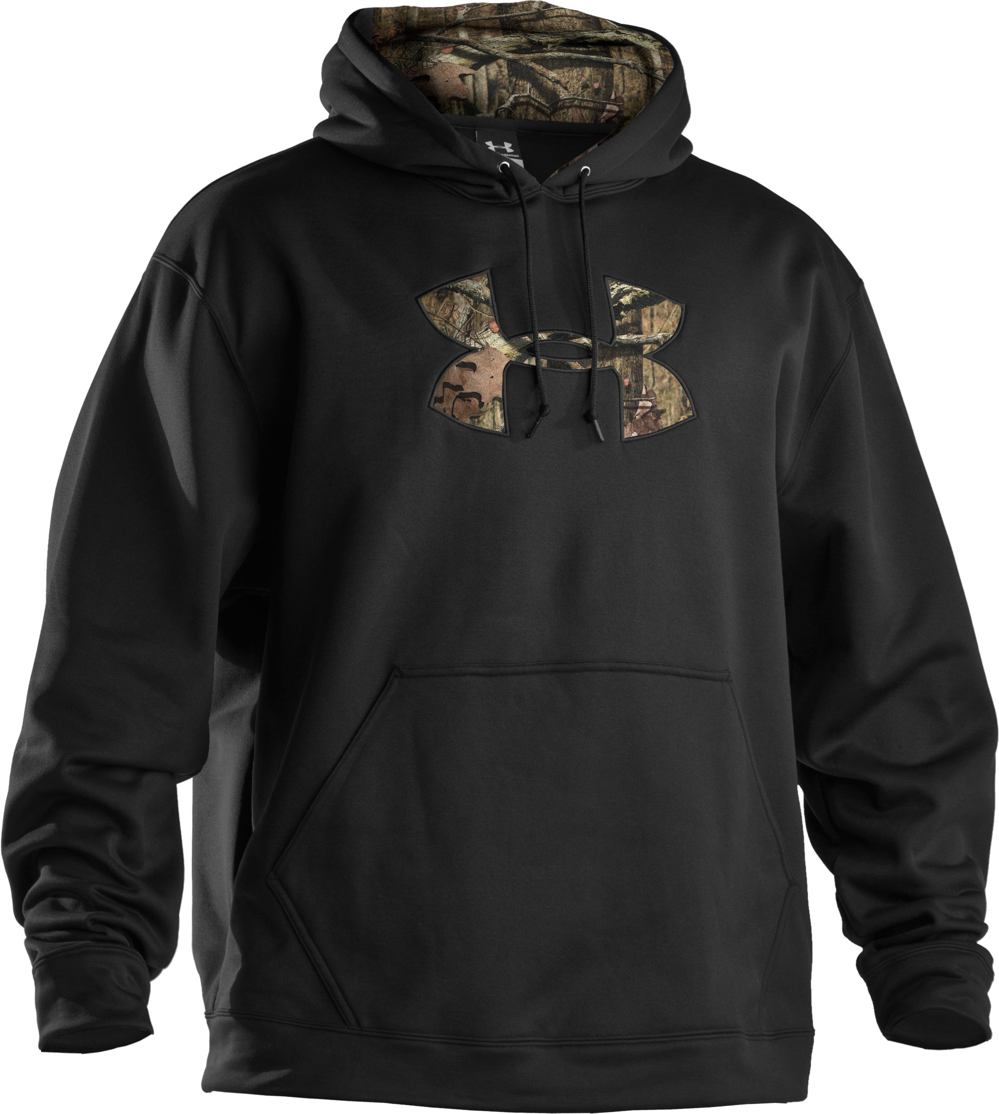 Men's UA Storm Armour® Fleece Tackle Twill Hoodie, Black , undefined