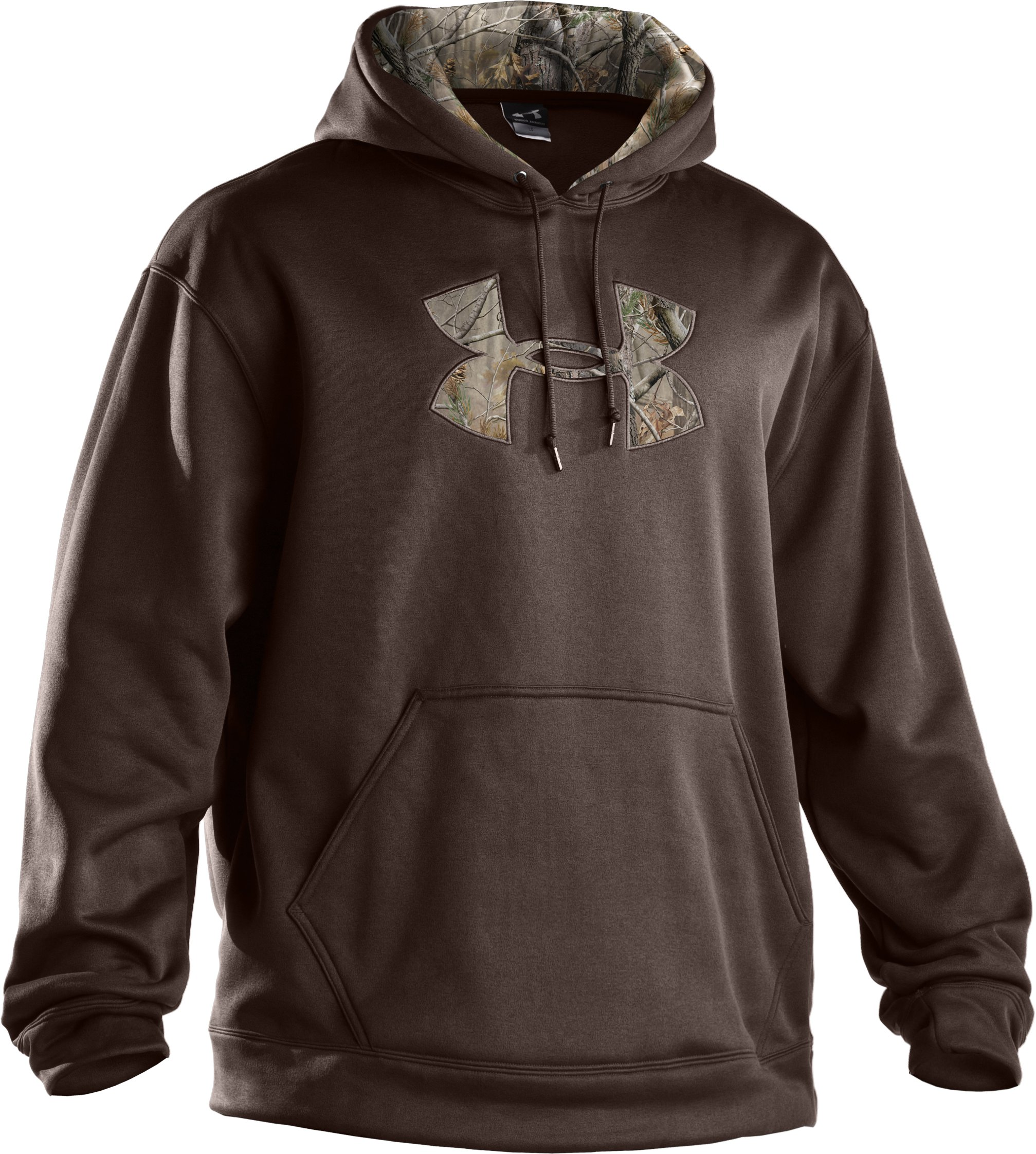Men's UA Storm Armour® Fleece Tackle Twill Hoodie, Timber, undefined