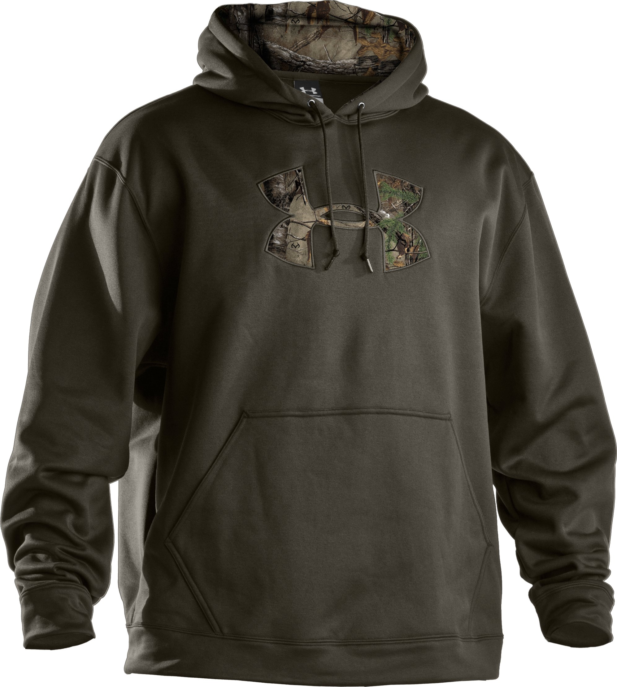 Men's UA Storm Armour® Fleece Tackle Twill Hoodie, Rifle Green