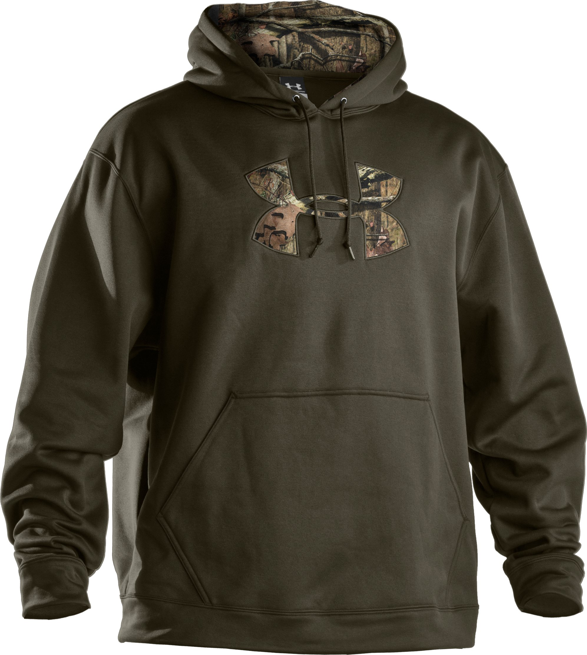 Men's UA Storm Armour® Fleece Tackle Twill Hoodie, Sage,
