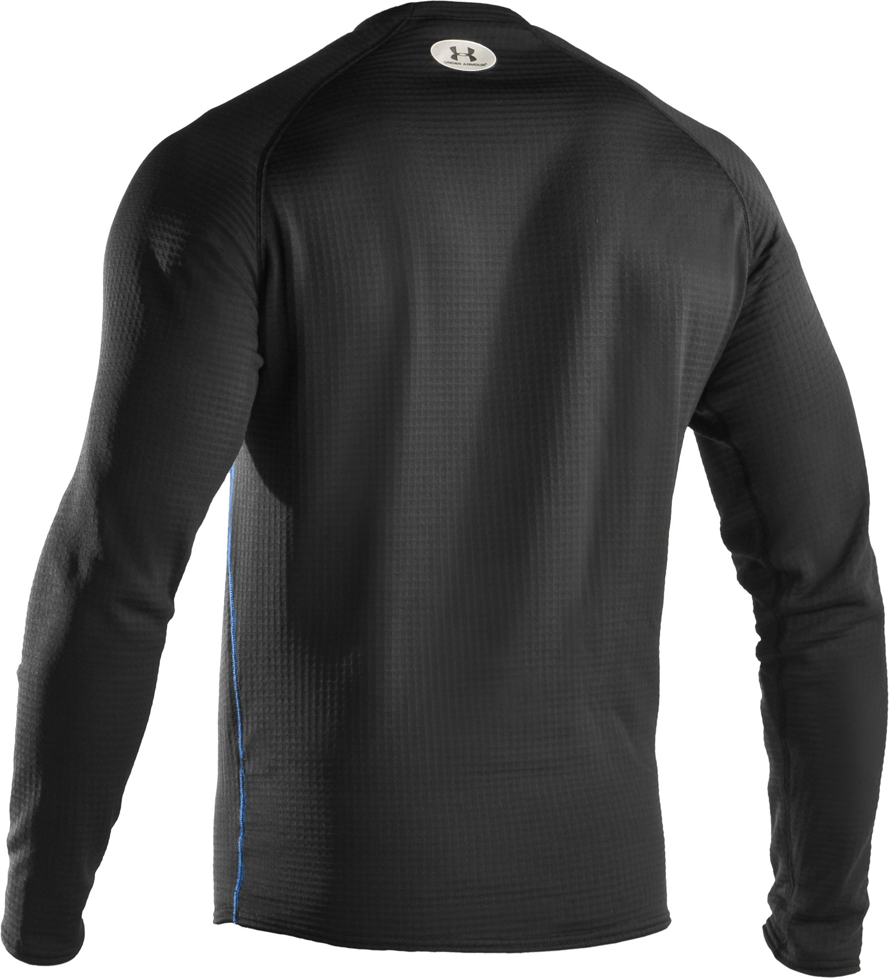 Men's ColdGear® UA Base™ 3.0 Long Sleeve Crew, Black , undefined