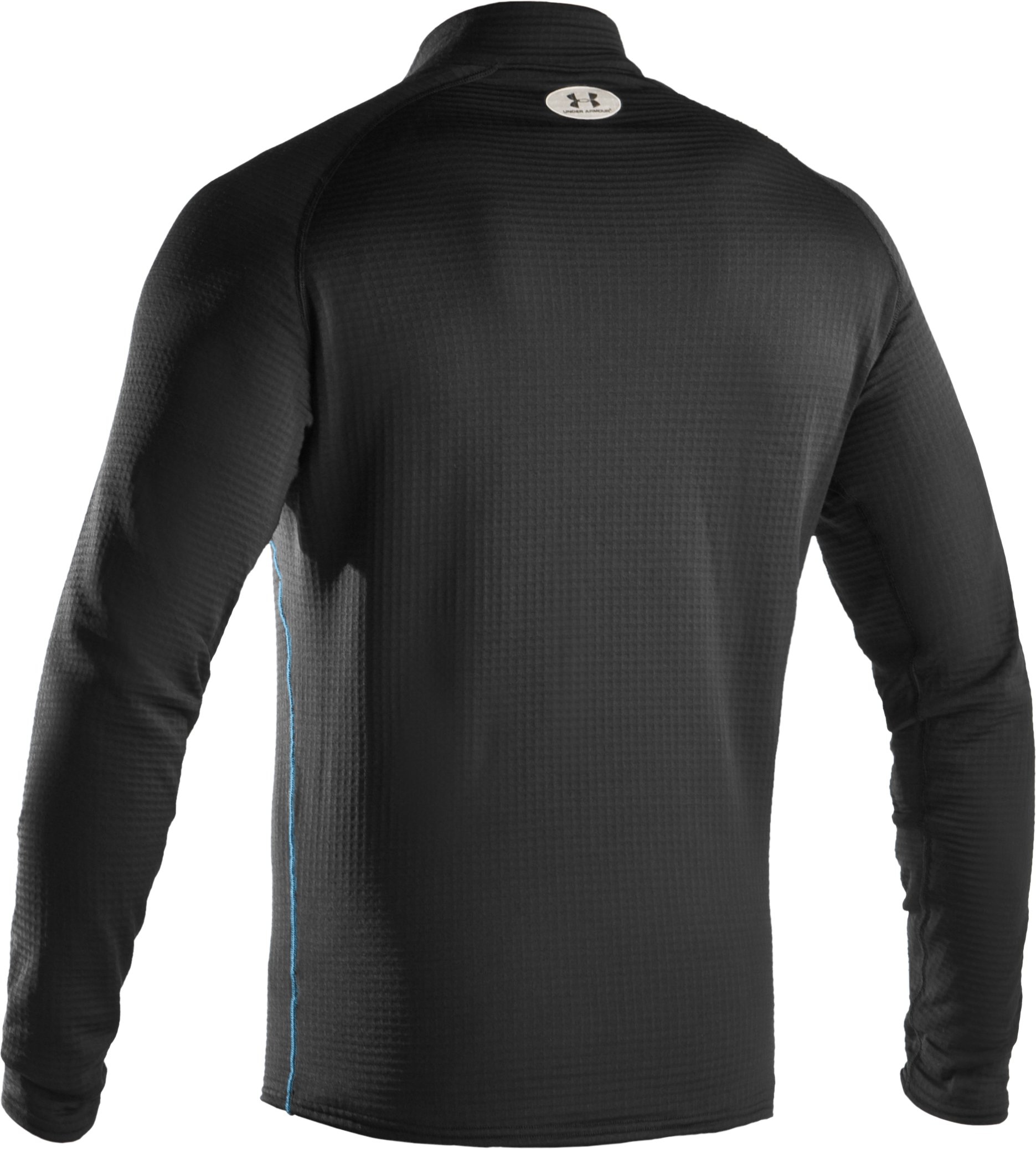Men's ColdGear® UA Base™ 3.0 ¼ Zip Shirt, Black , undefined