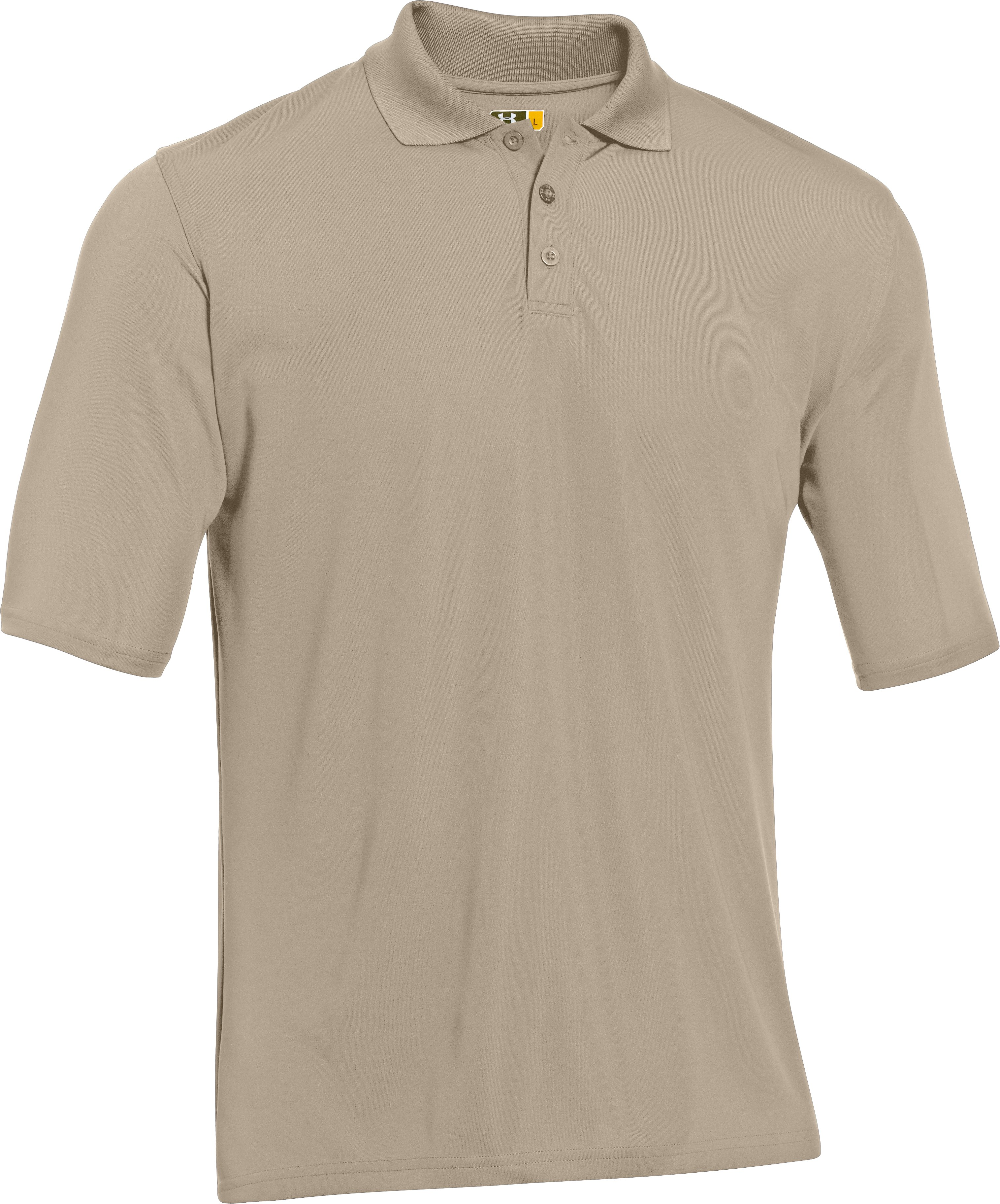 Men's UA Tactical Range Polo, Desert Sand,