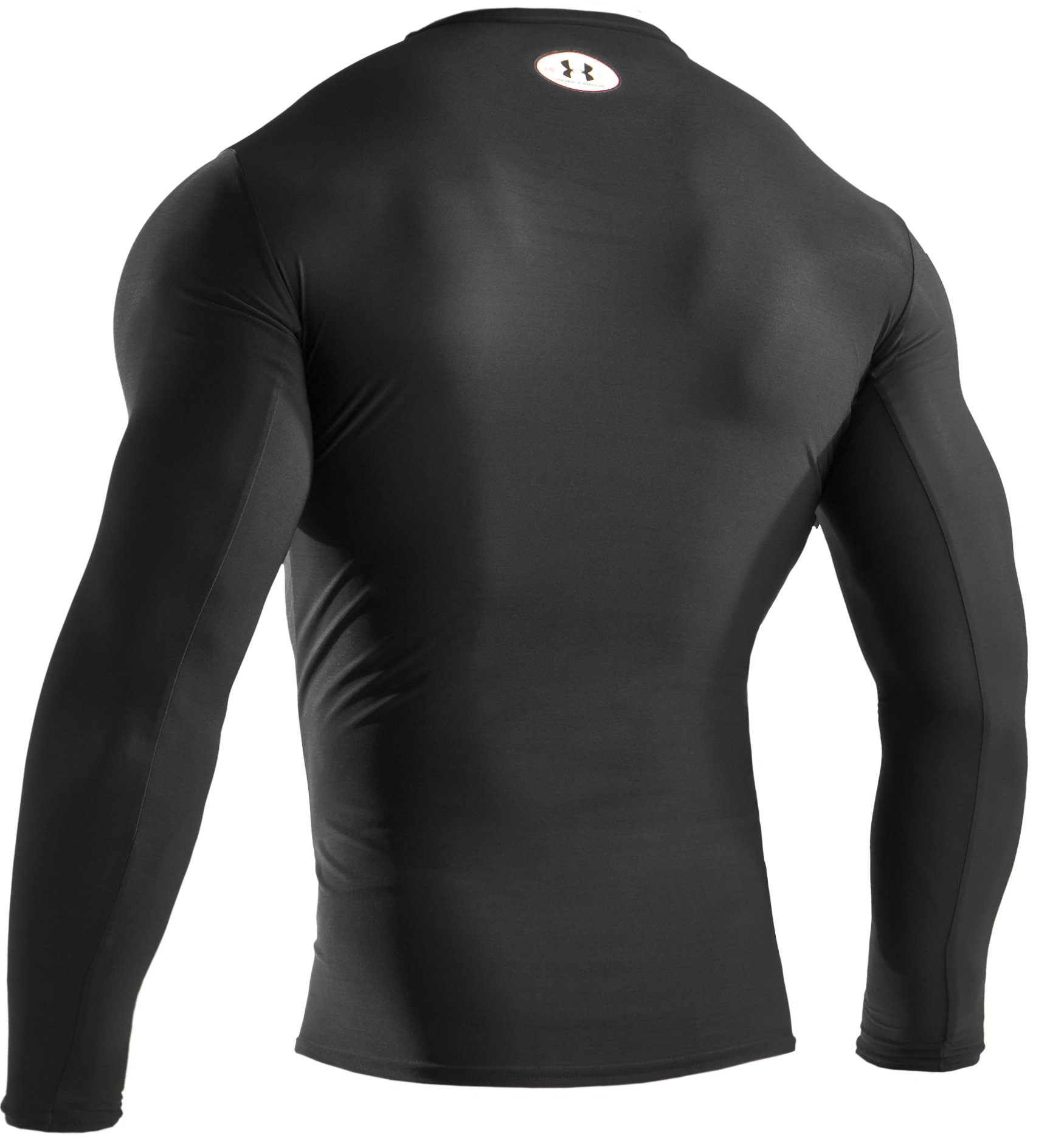 Men's HeatGear® Compression Long Sleeve T-Shirt, Black , undefined