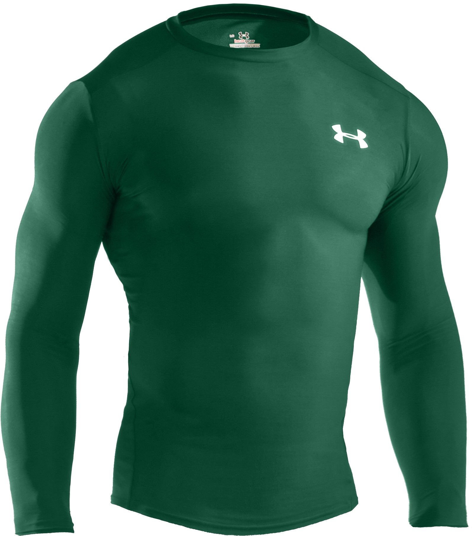 Men's HeatGear® Compression Long Sleeve T-Shirt, Forest Green, undefined