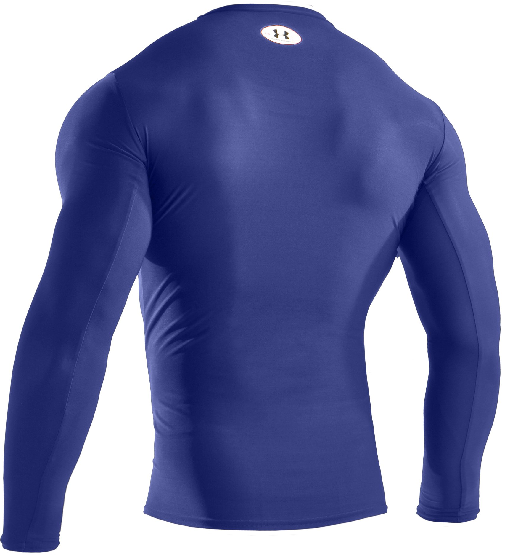 Men's HeatGear® Compression Long Sleeve T-Shirt, Royal, undefined
