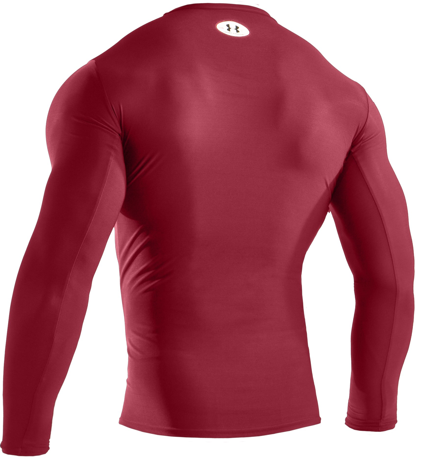 Men's HeatGear® Compression Long Sleeve T-Shirt, Crimson