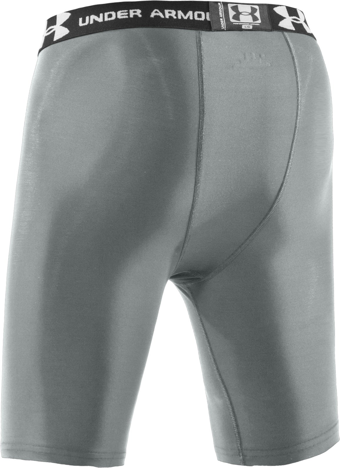 "Men's HeatGear® Compression 7"" Shorts, Gray, undefined"