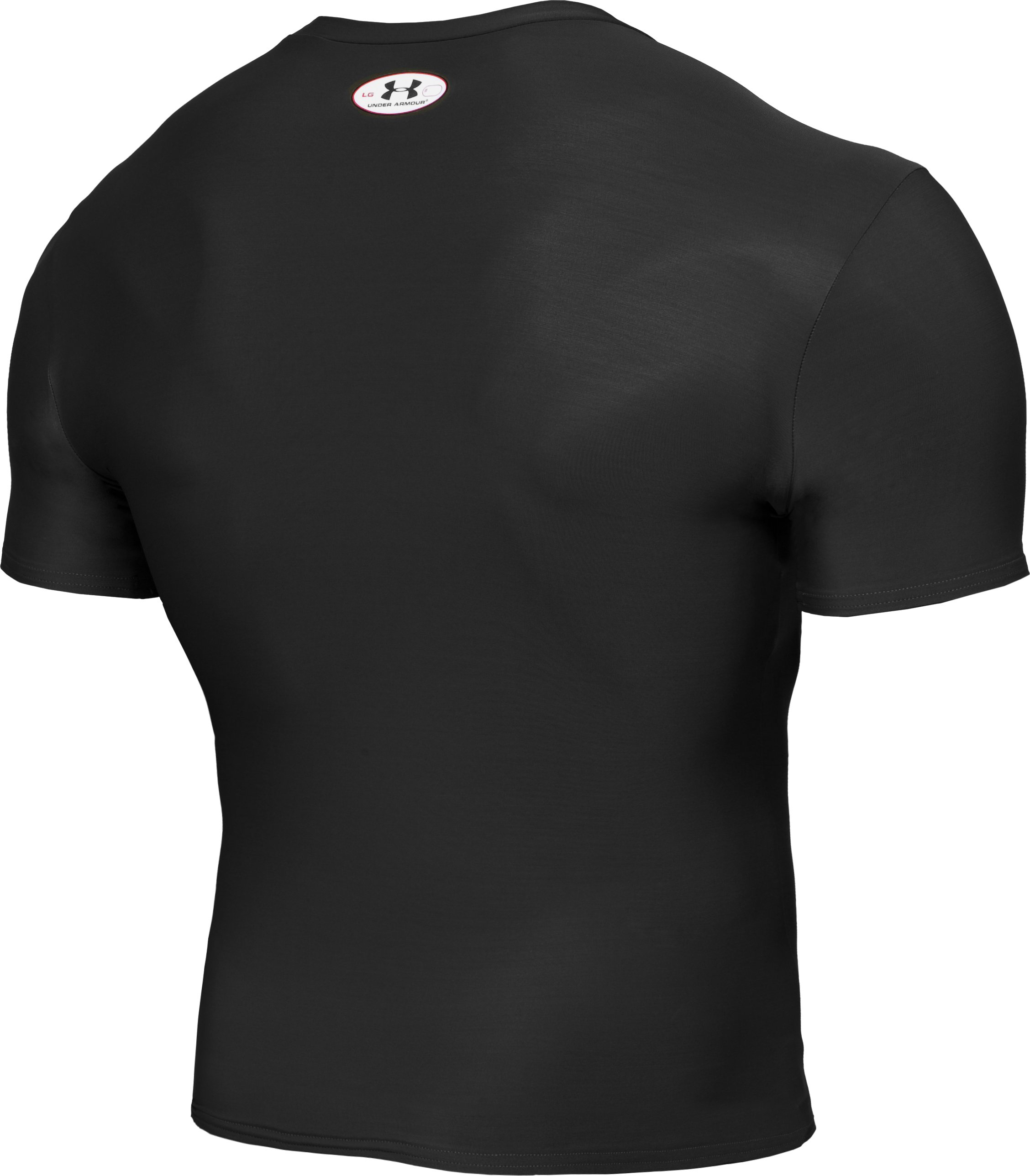 Men's HeatGear® Compression Short Sleeve T-Shirt, Black ,