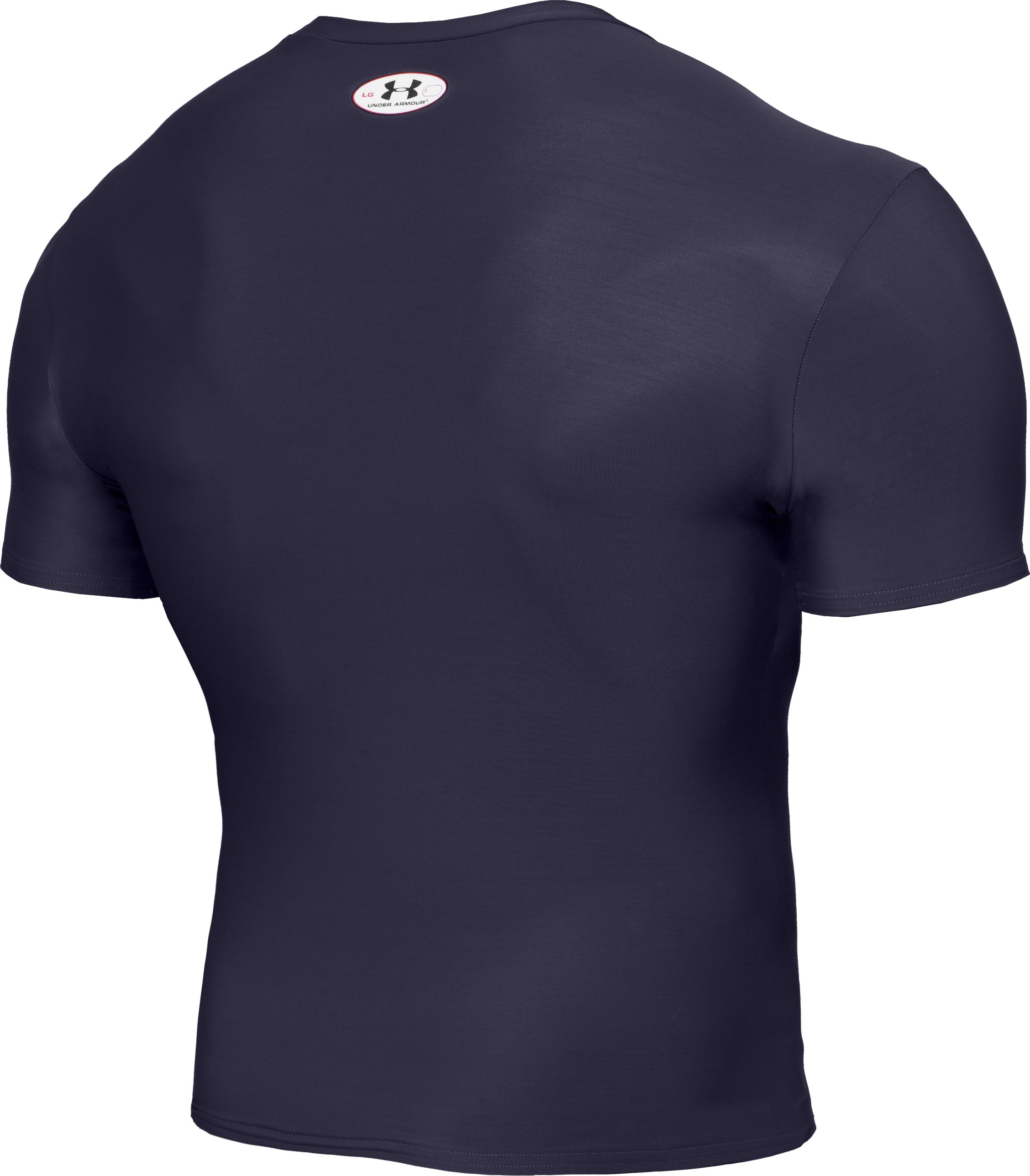 Men's HeatGear® Compression Short Sleeve T-Shirt, Midnight Navy