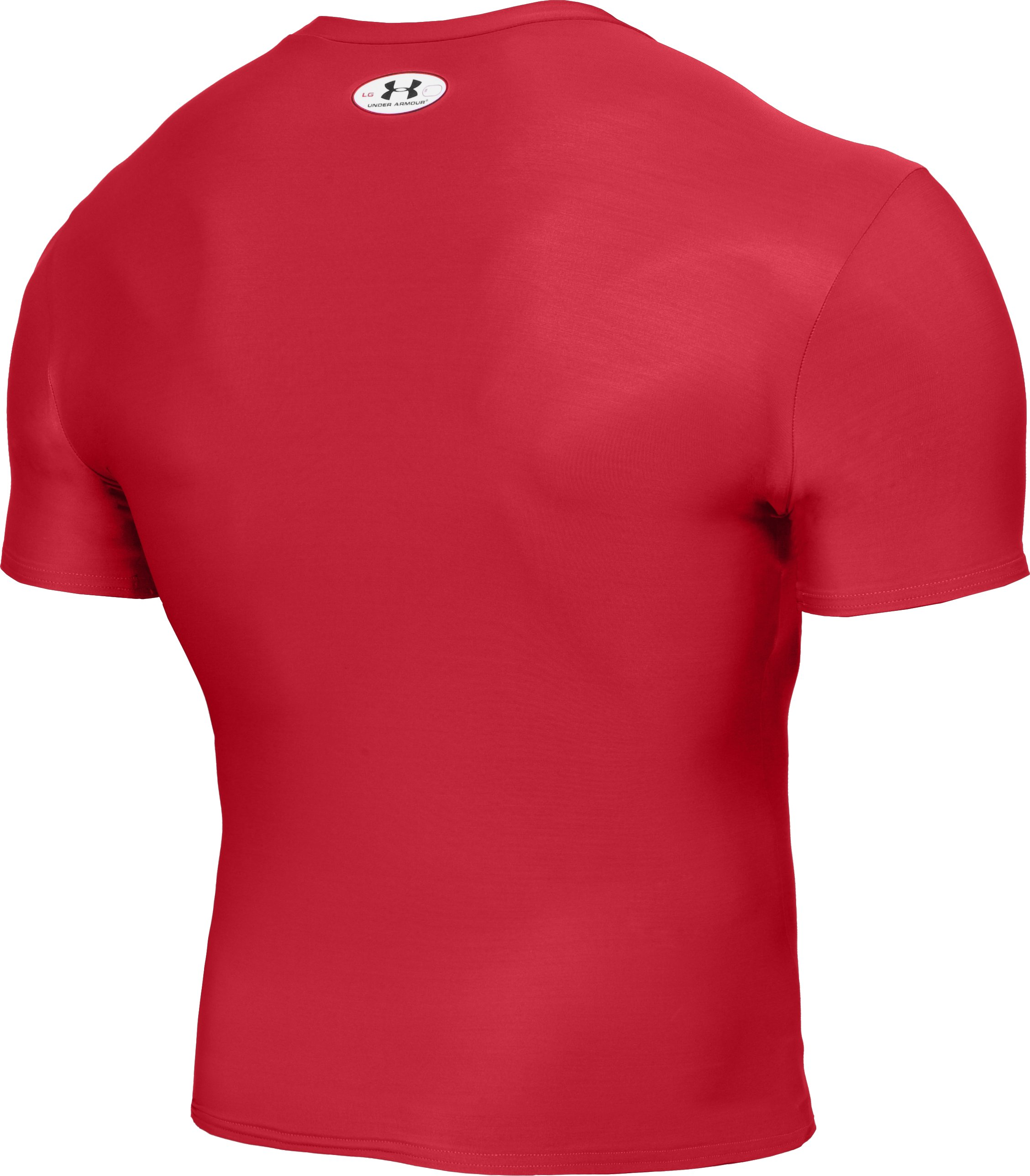 Men's HeatGear® Compression Short Sleeve T-Shirt, Red
