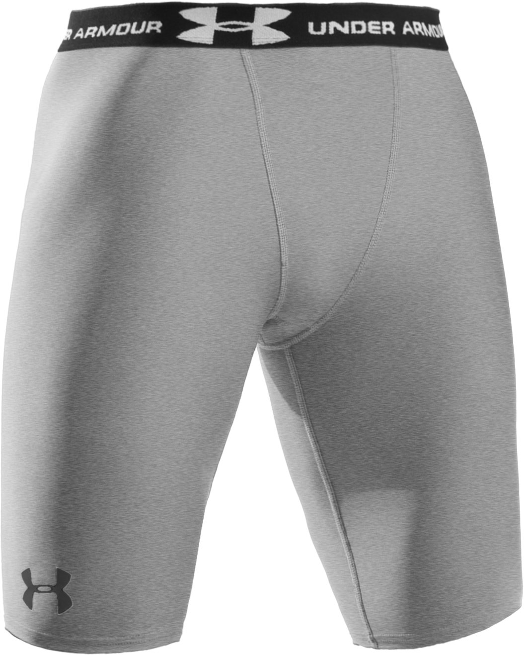 "Men's UA HeatGear® Compression 10"" Shorts, Medium Gray Heather"