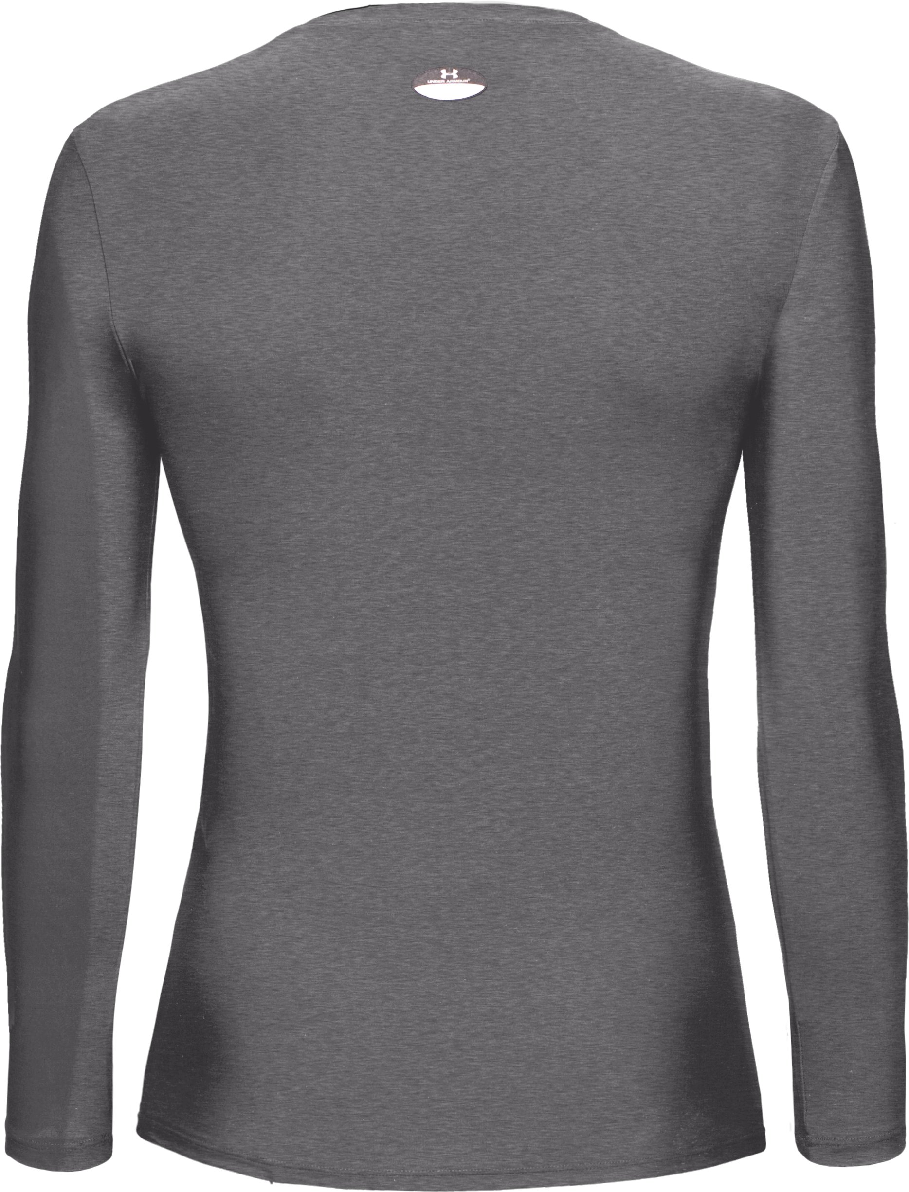 Women's HeatGear® Long Sleeve Compression T-Shirt, Medium Gray Heather