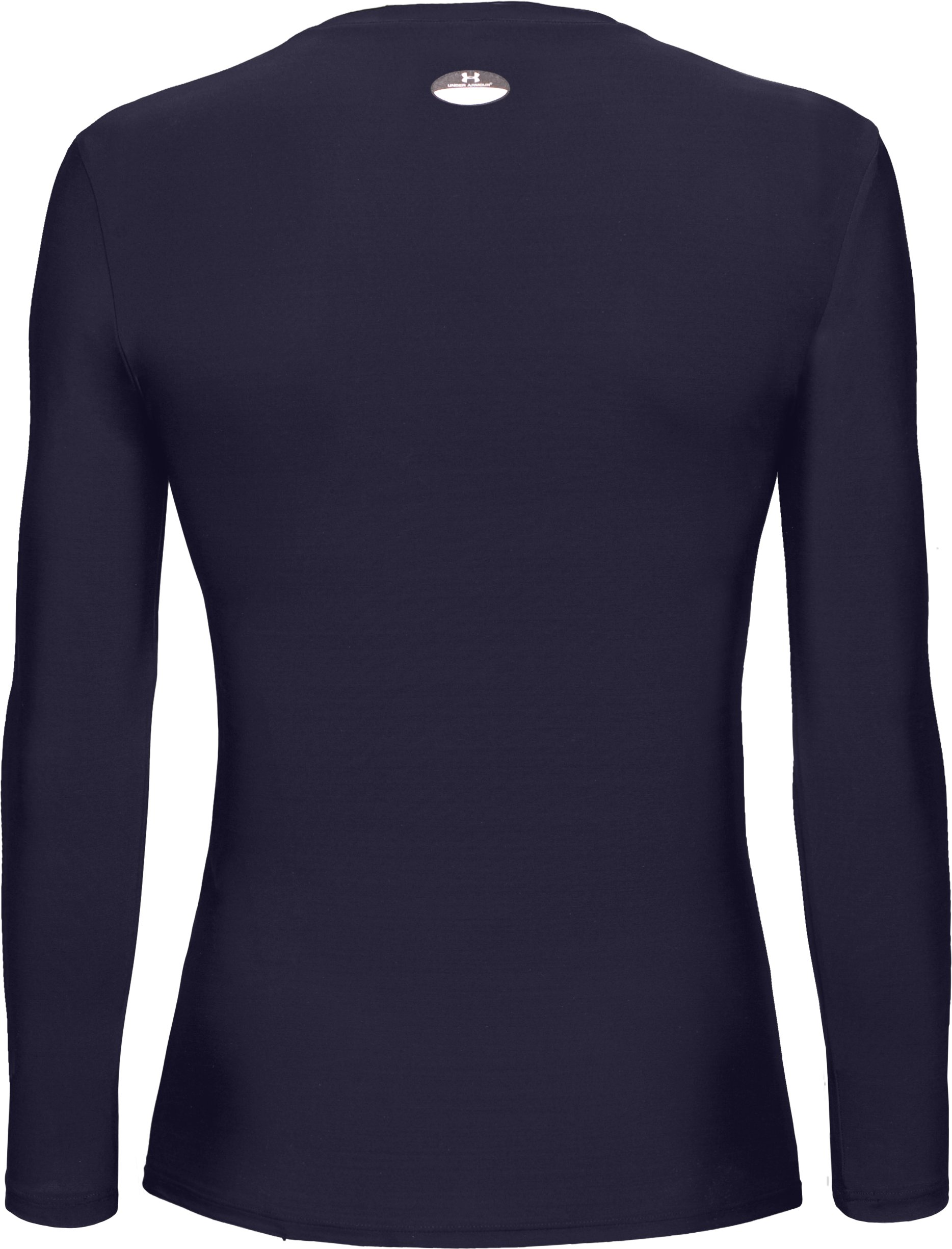 Women's HeatGear® Long Sleeve Compression T-Shirt, Midnight Navy
