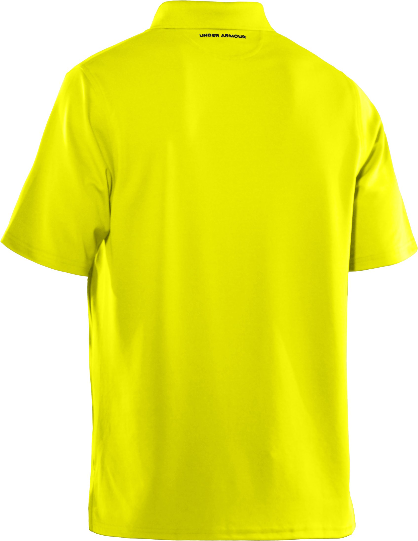 Men's UA Performance Polo — Regular Fit, High-Vis Yellow