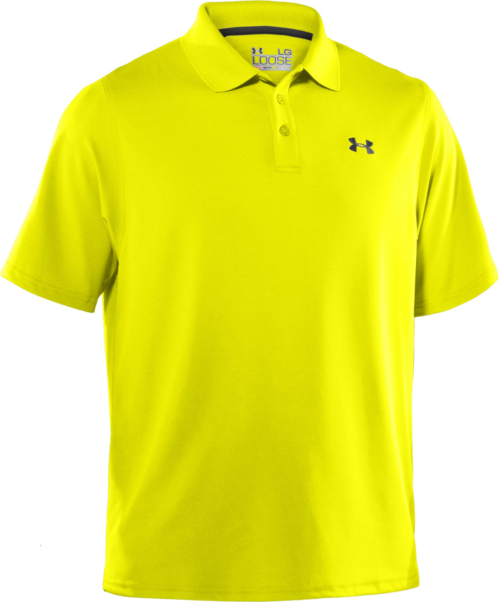 Men's UA Performance Polo — Regular Fit, High-Vis Yellow, undefined