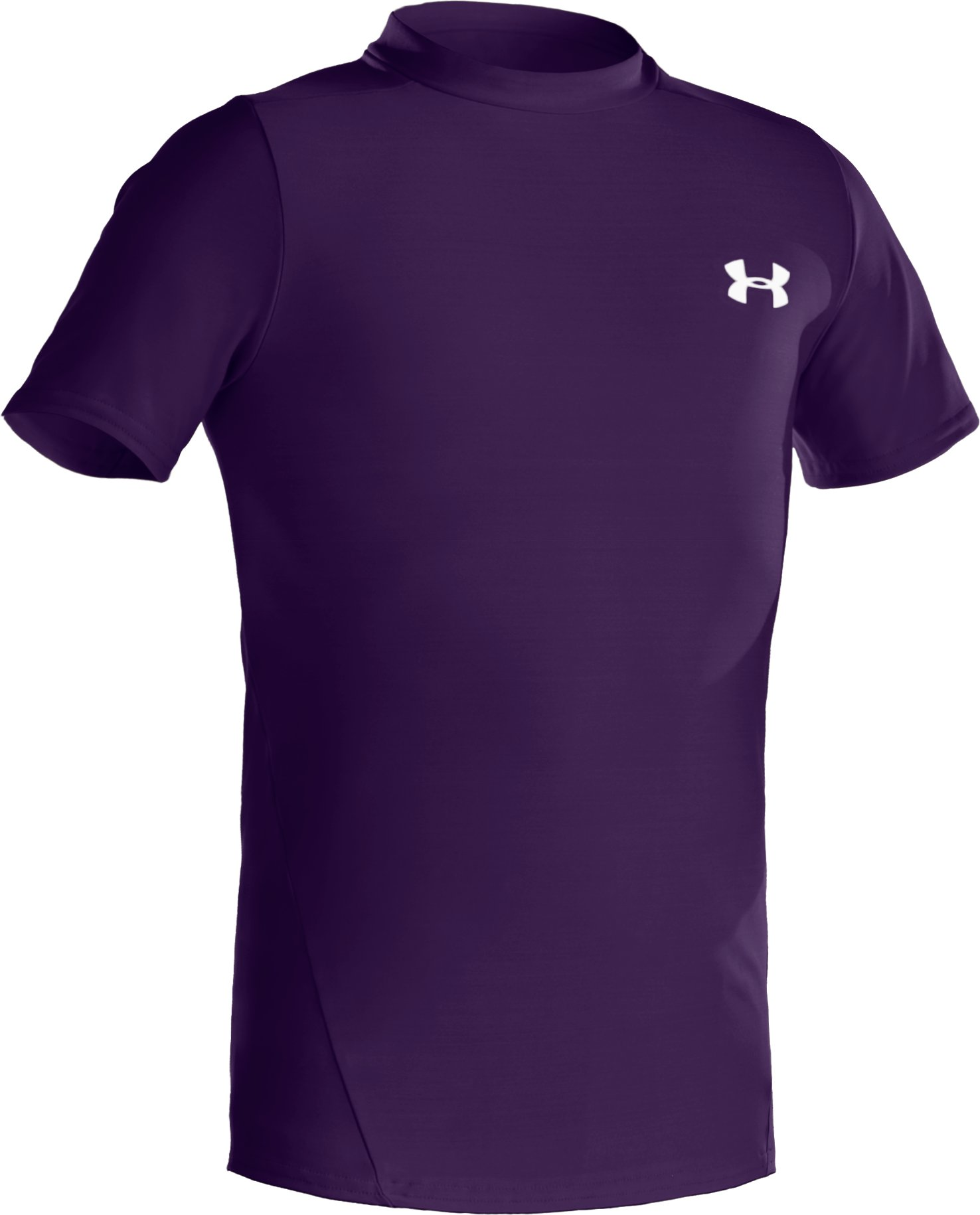 Boys' Short Sleeve HeatGear® T-Shirt II, Purple,