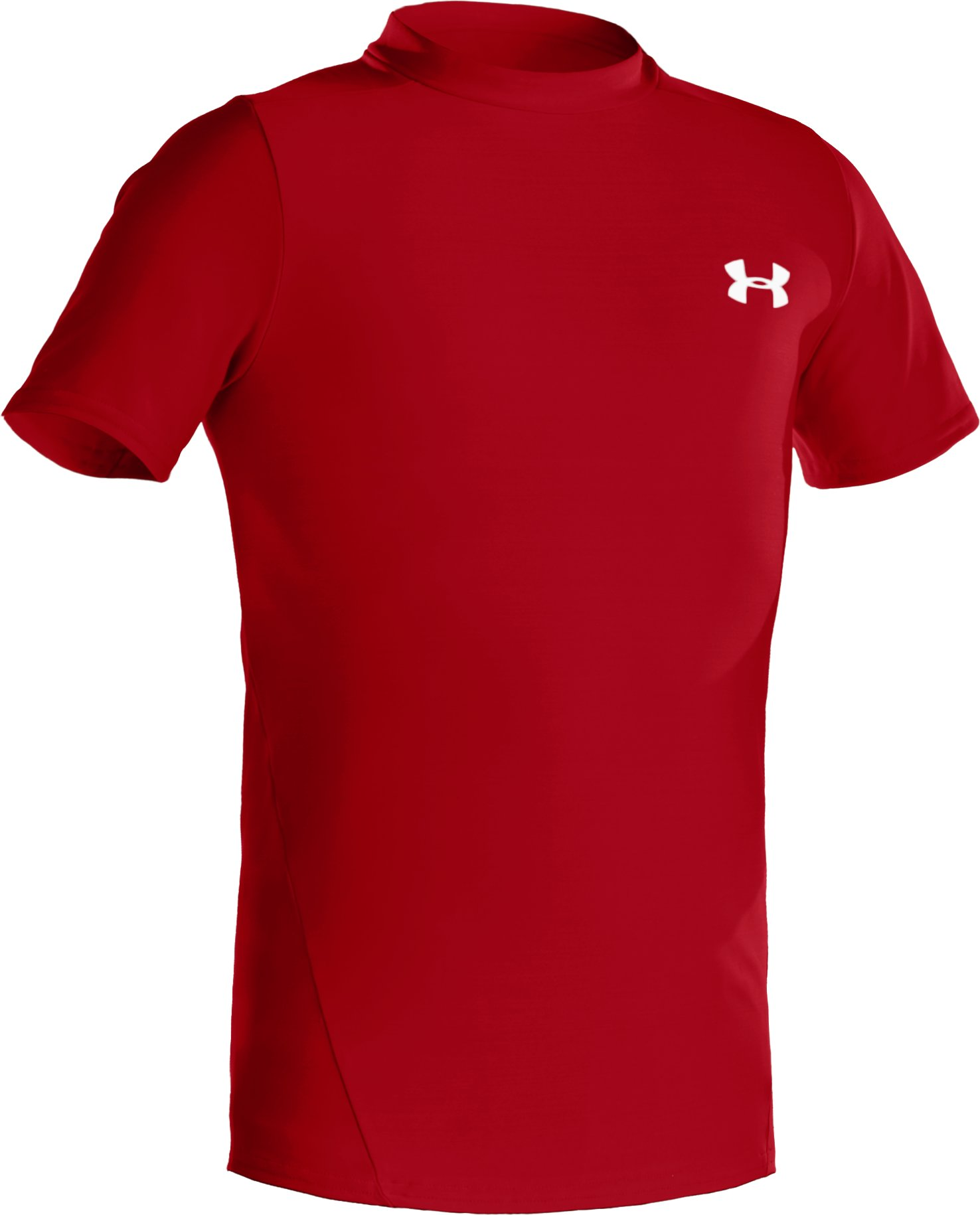 Boys' Short Sleeve HeatGear® T-Shirt II, Red, zoomed image