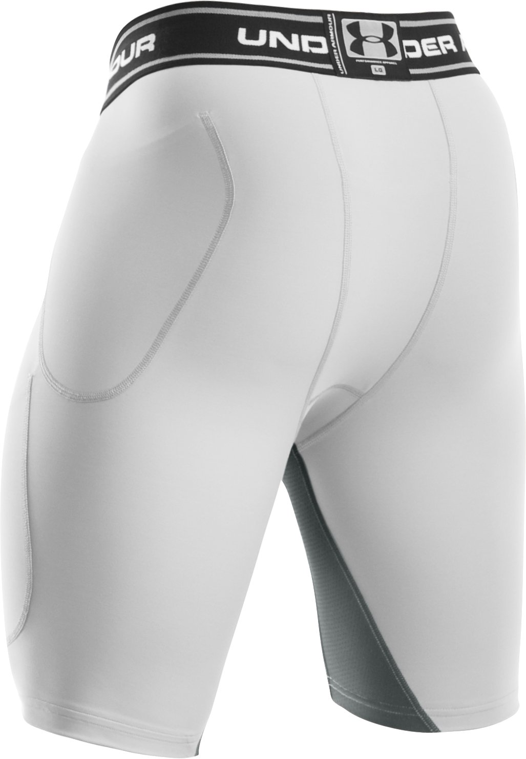 Men's UA HeatGear® Six Pocket Football Girdle, White,