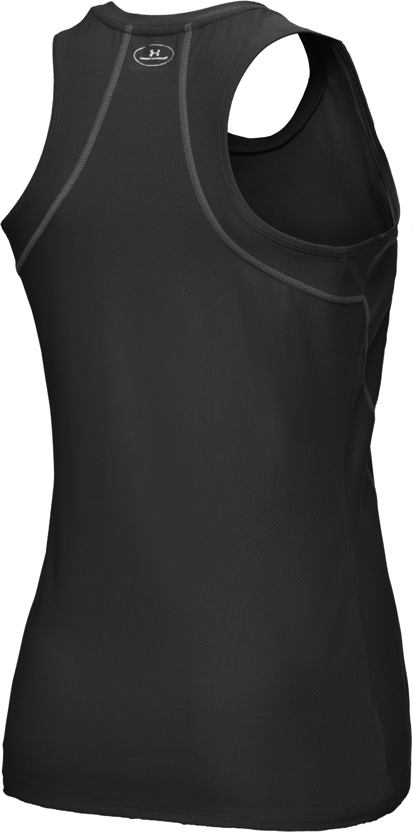 Women's UA HeatGear® Fitted Racerback Tank Top, Black