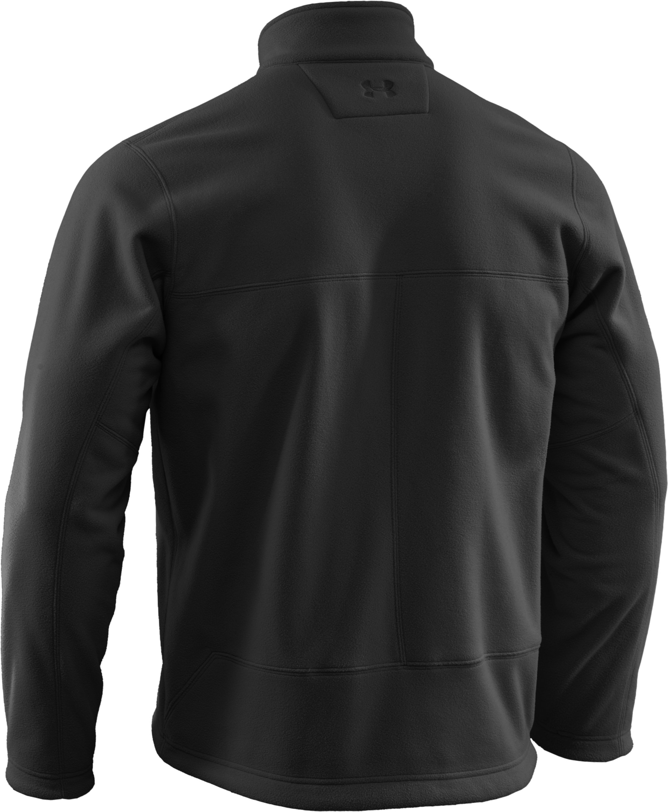 Men's Tactical Windproof Fleece Jacket, Black , undefined