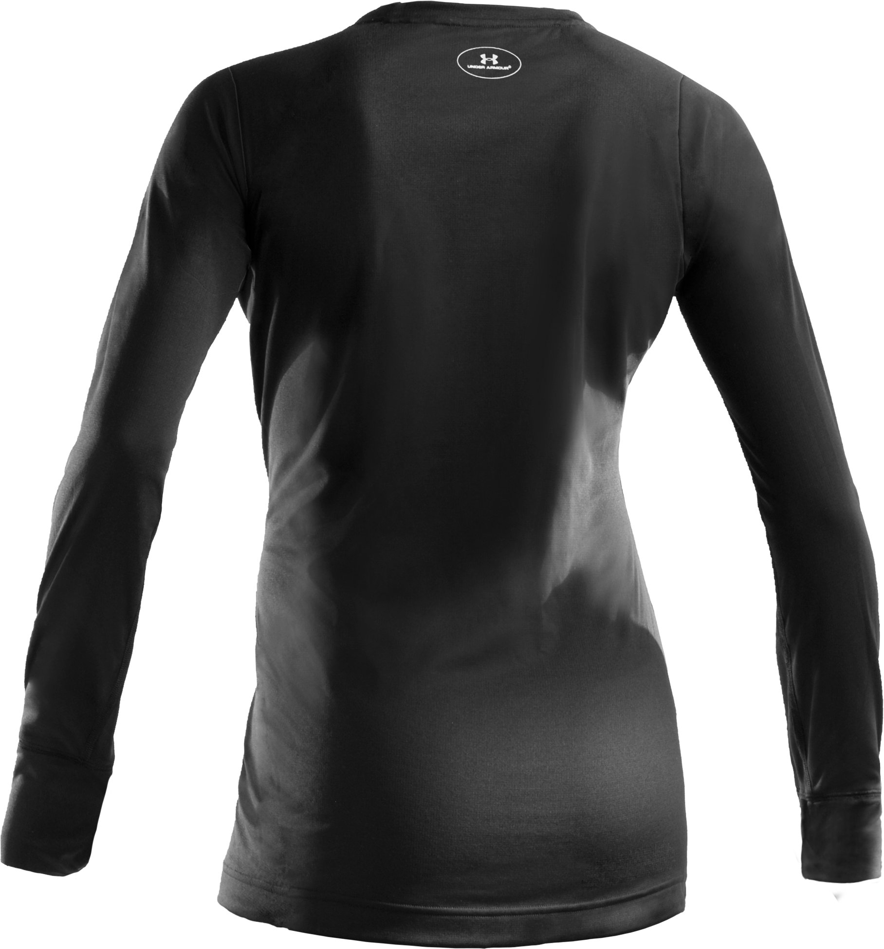 Women's UA Base™ 1.0 Crew, Black , undefined