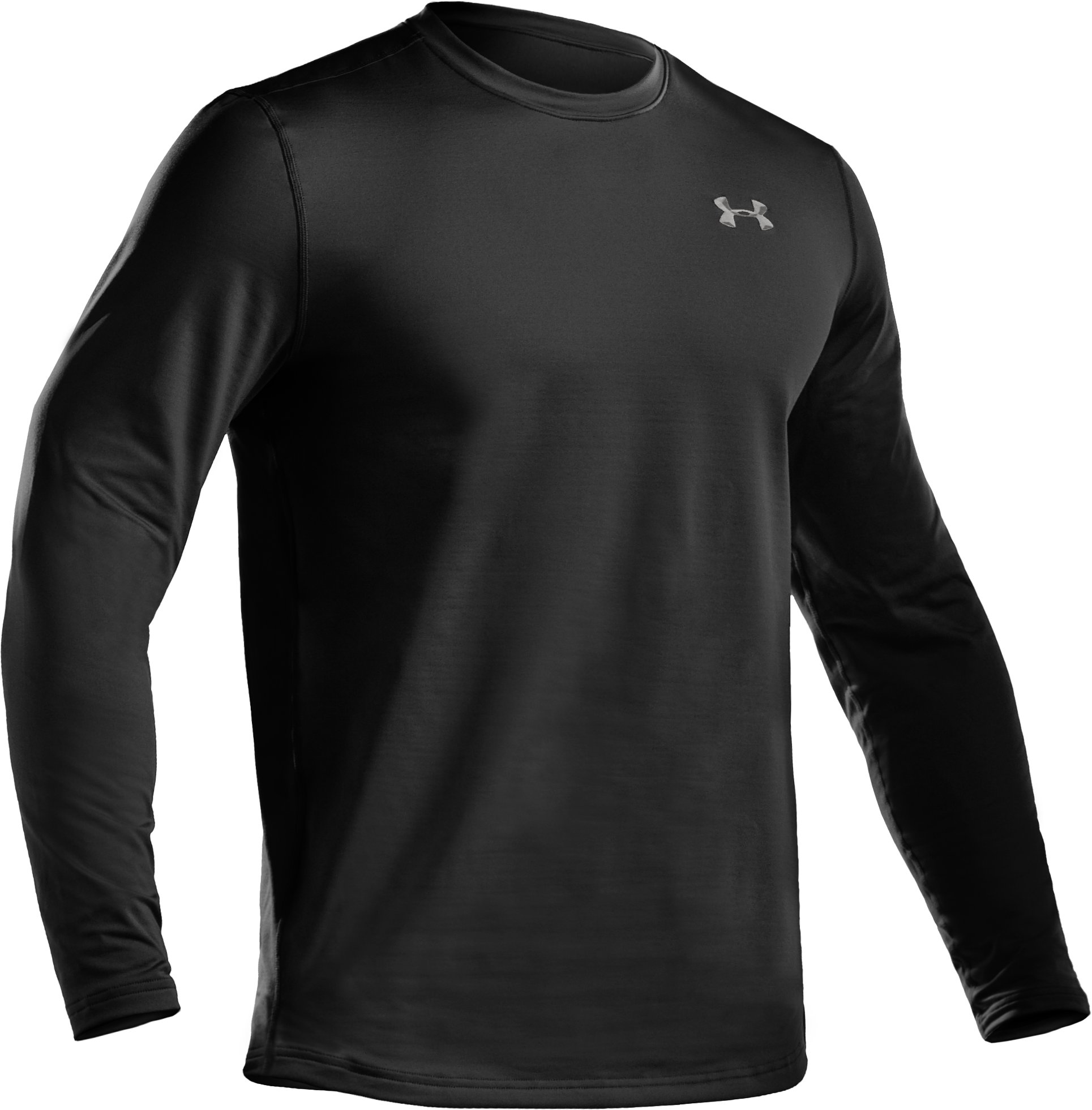 Men's UA EVO ColdGear® Fitted Long Sleeve Crew, Black