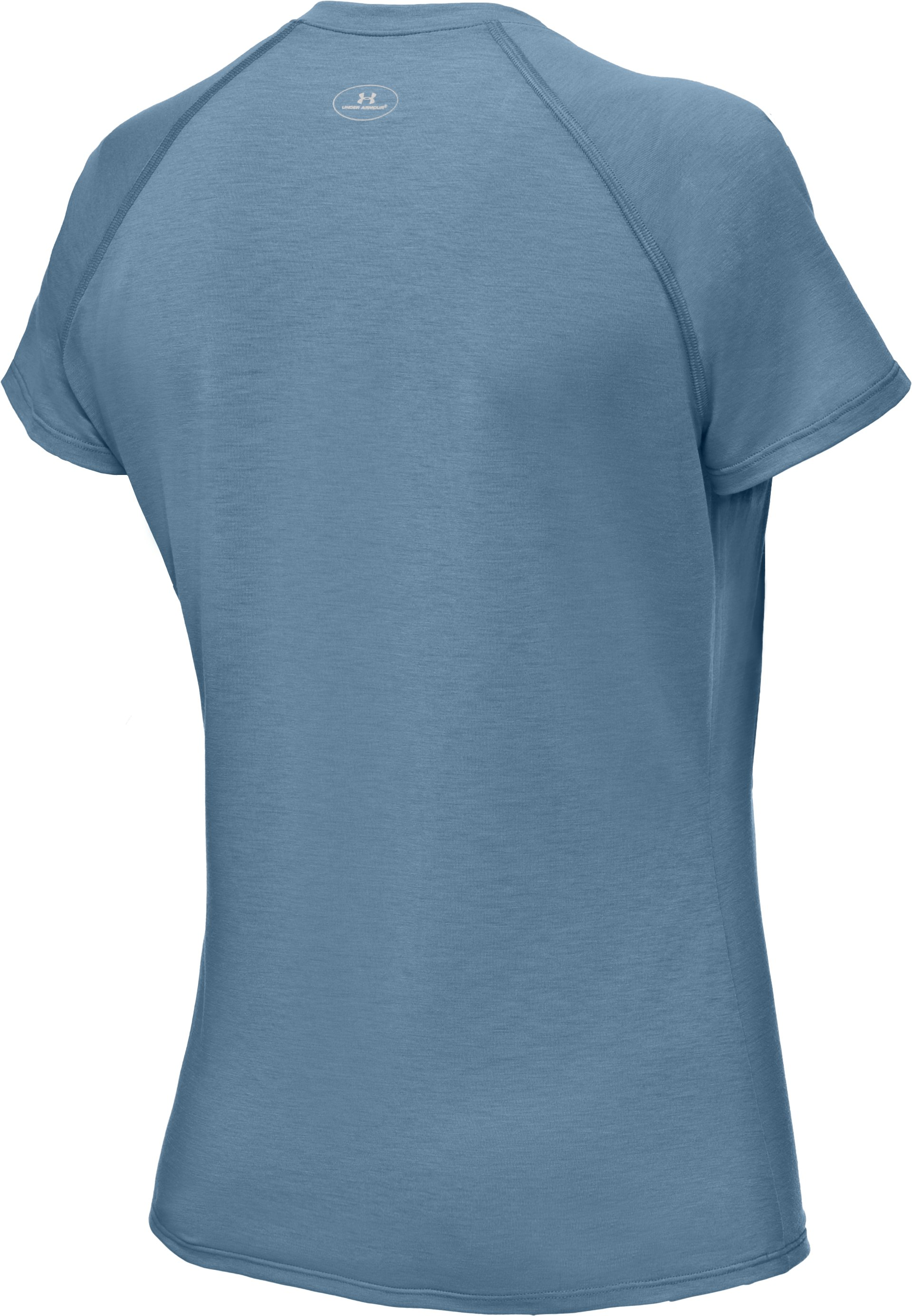 Women's UA Tech™ Short Sleeve V-Neck T-Shirt, Solder, undefined