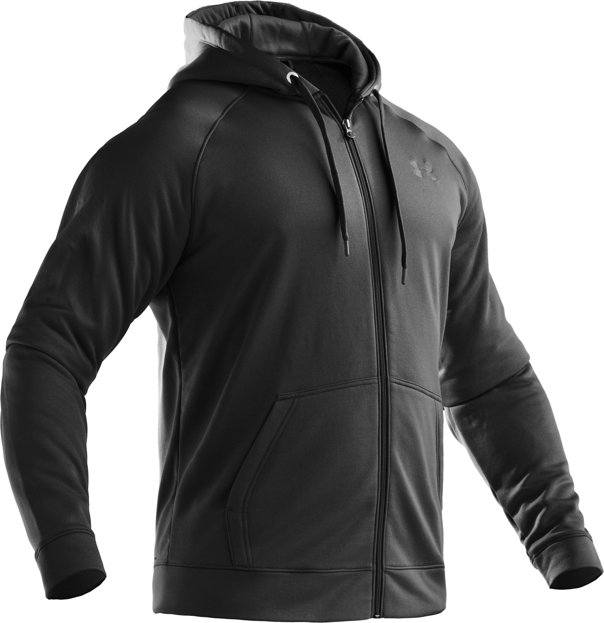 Men's Armour® Fleece Full Zip Hoodie, Black