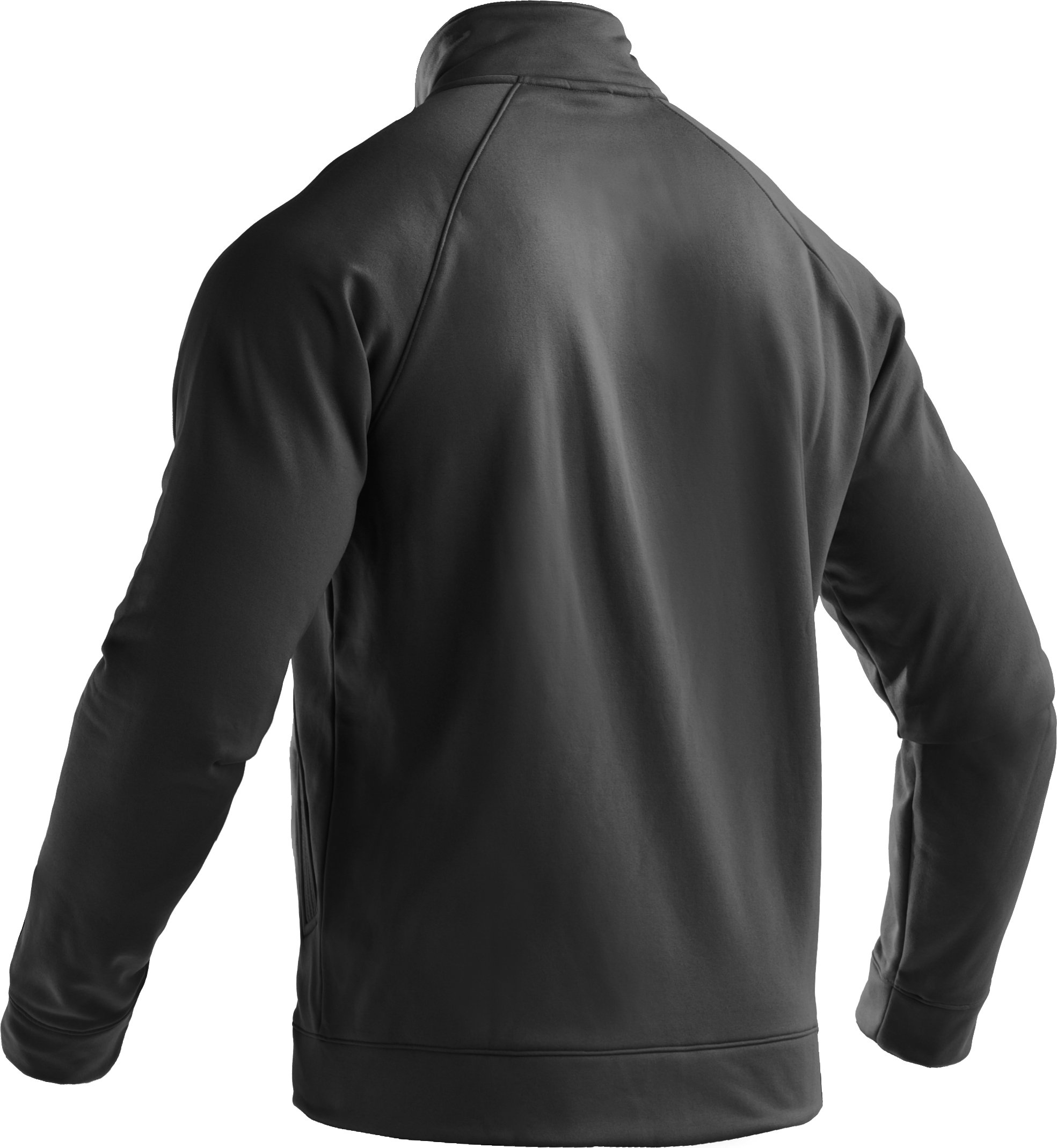 Men's Armour® Fleece Full Zip Jacket, Black