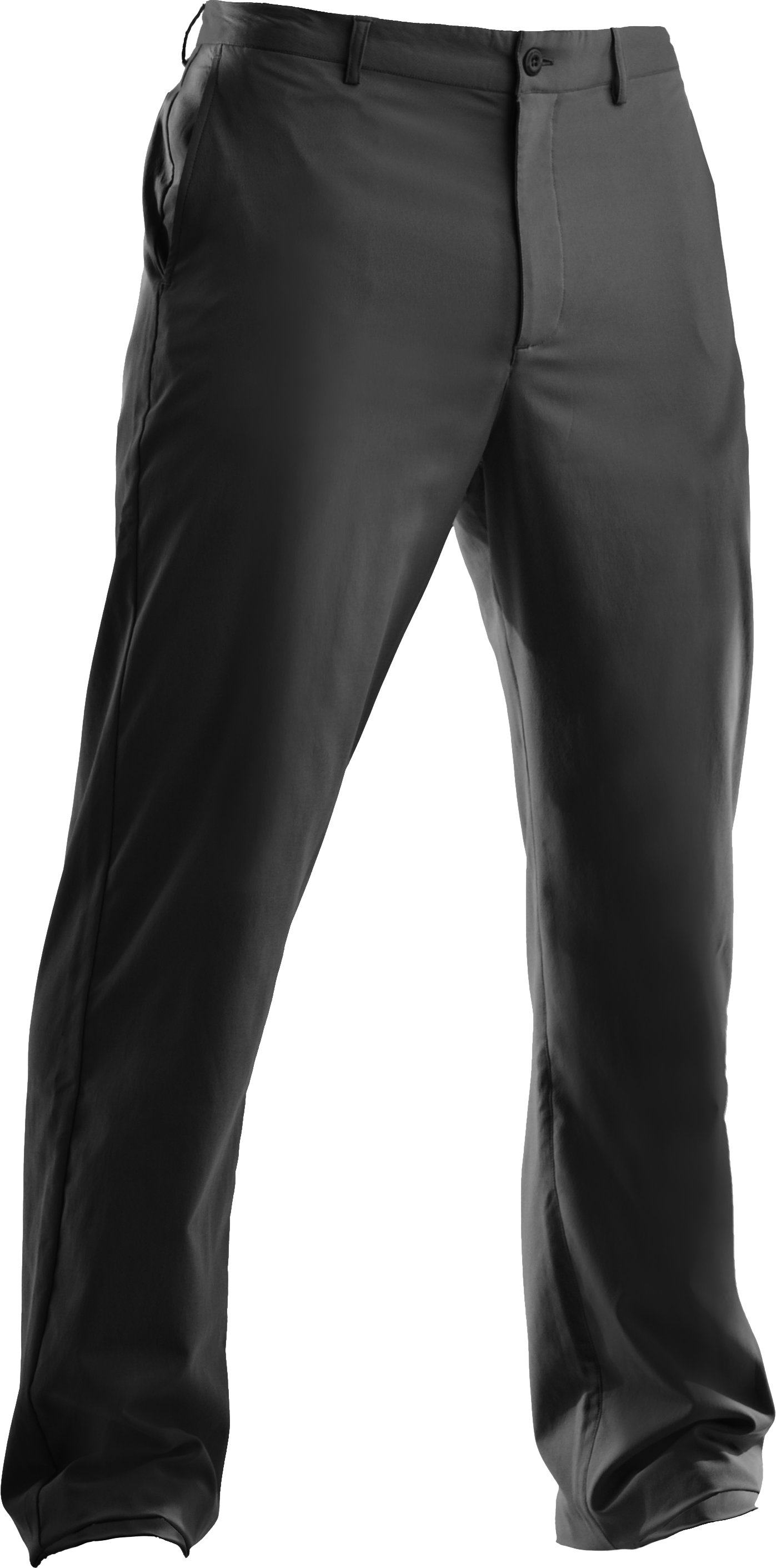 Men's Performance Flat Front Pants, Black , undefined