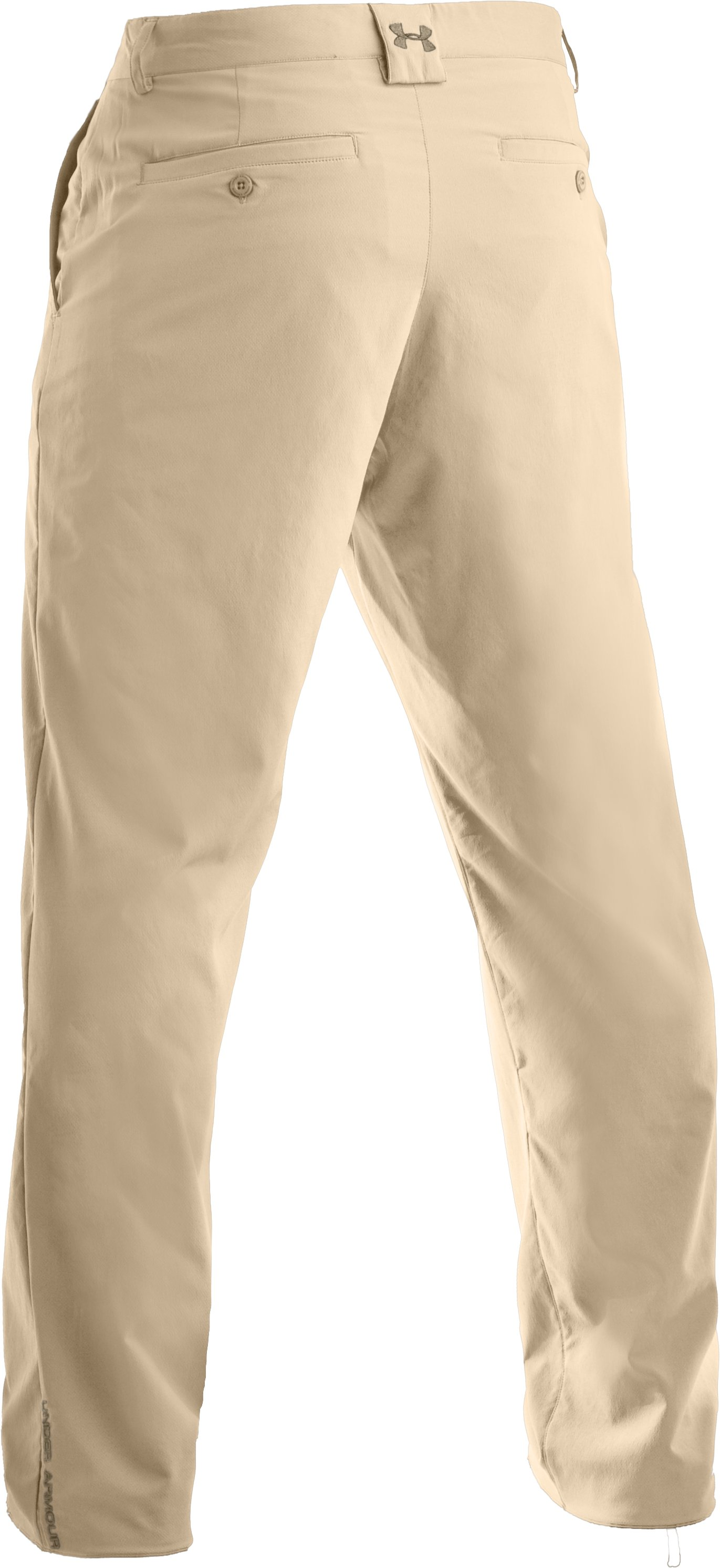 Men's Performance Flat Front Pants, Light Khaki