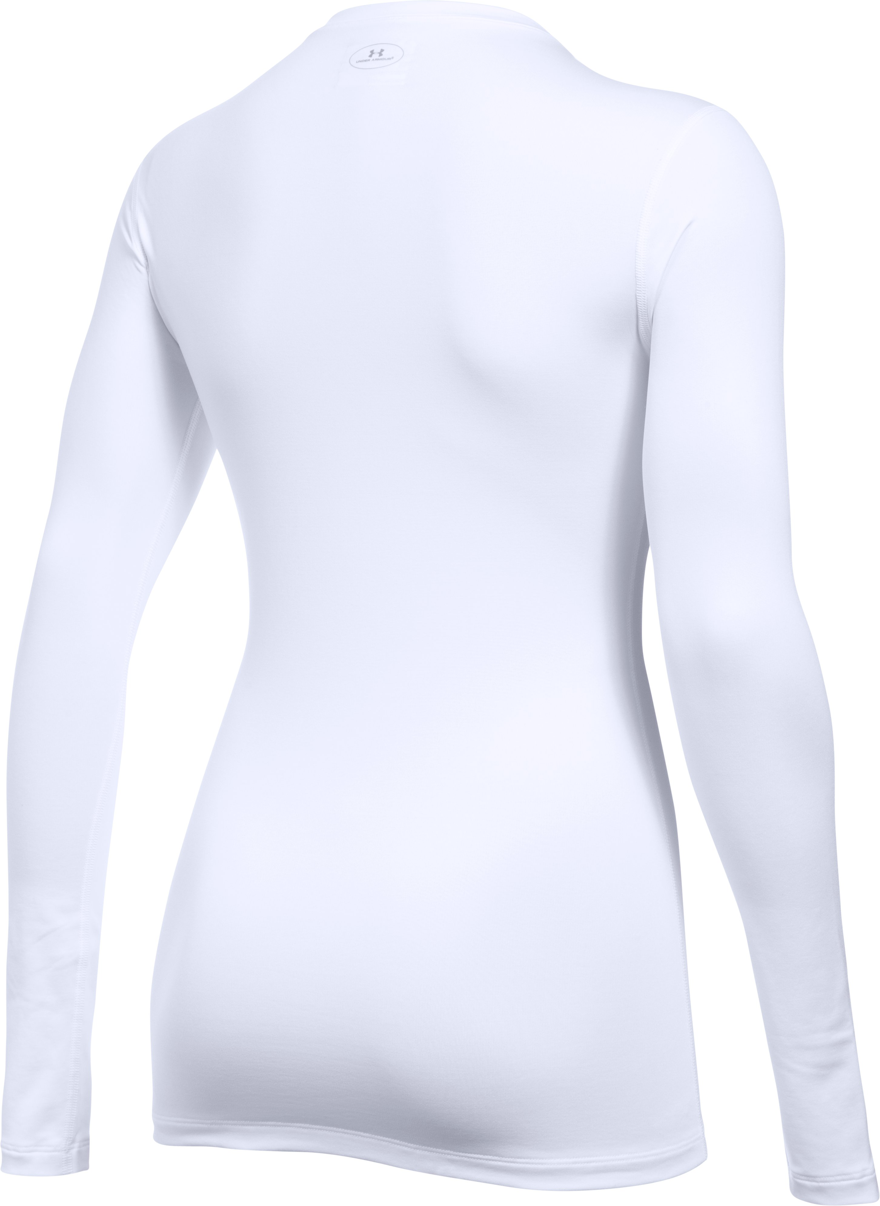 Women's ColdGear® Fitted Long Sleeve Crew, White