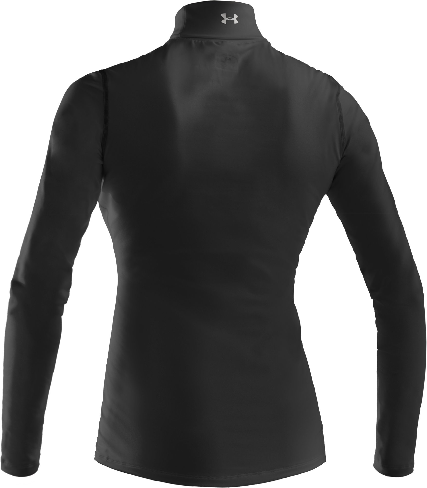 Women's ColdGear® Fitted Turtleneck, Black , undefined