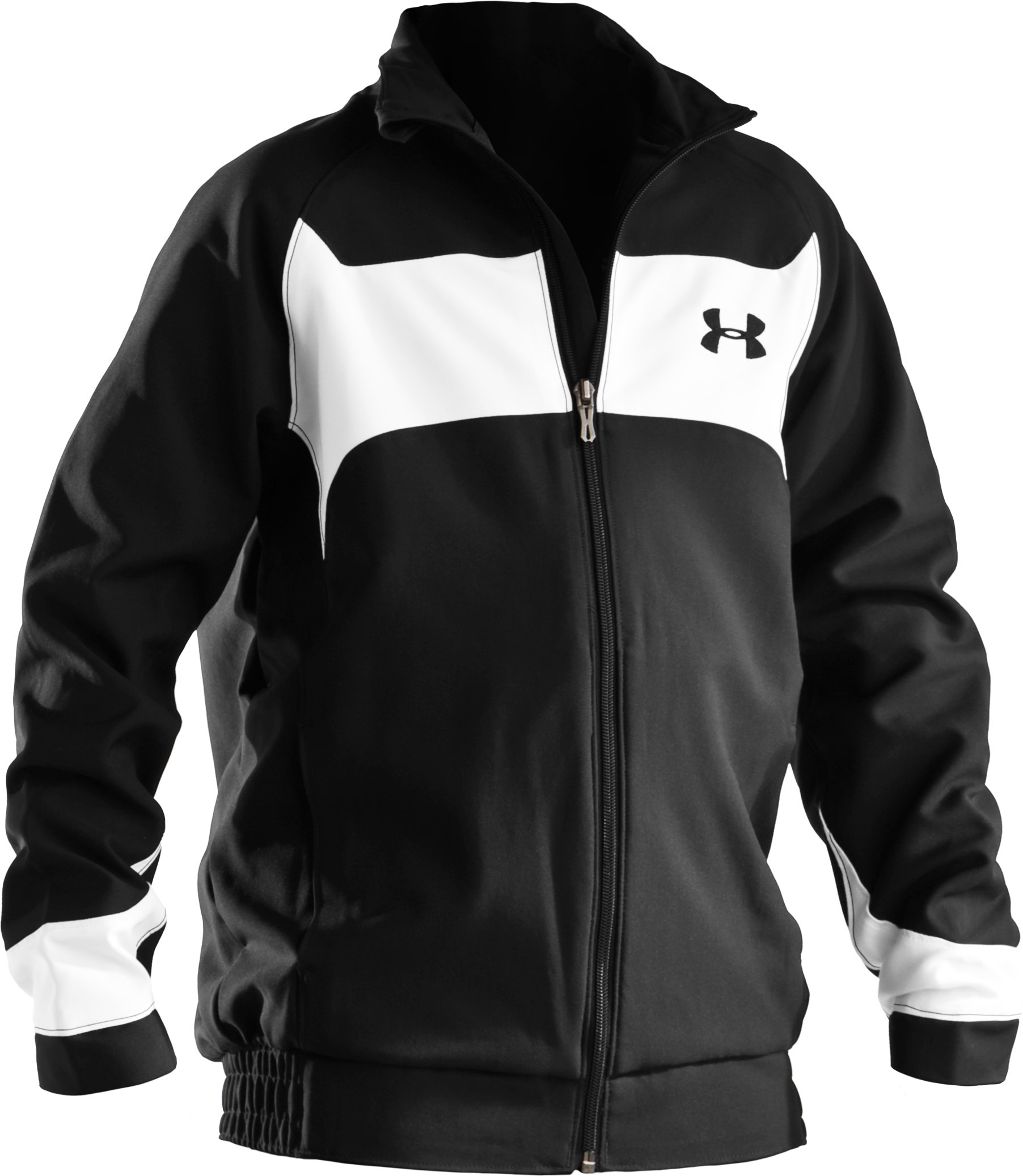 Boys' Ignition Woven Warm-Up Jacket, Black , undefined