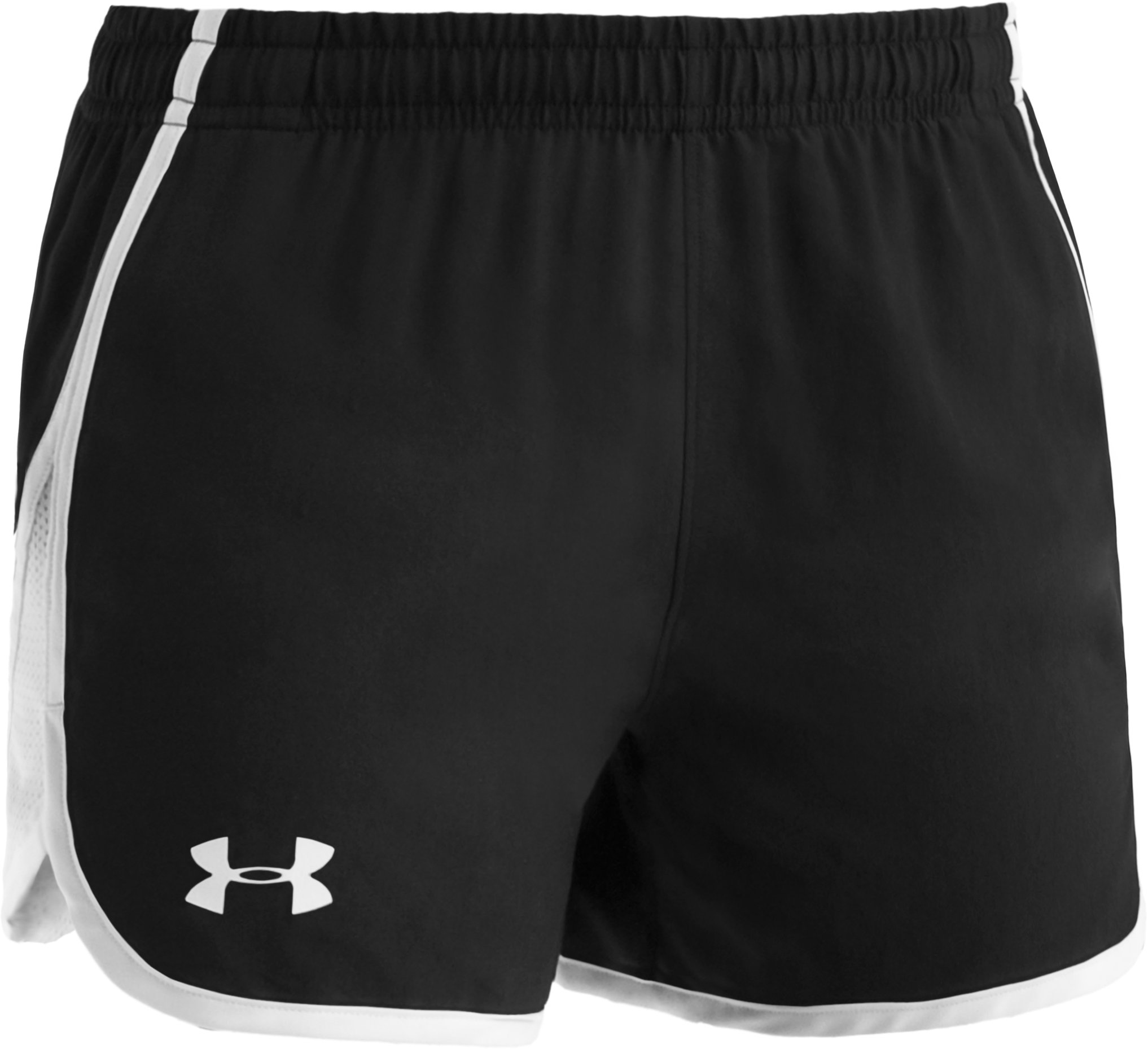 "Girls' UA Escape 3"" Shorts, Black , zoomed image"