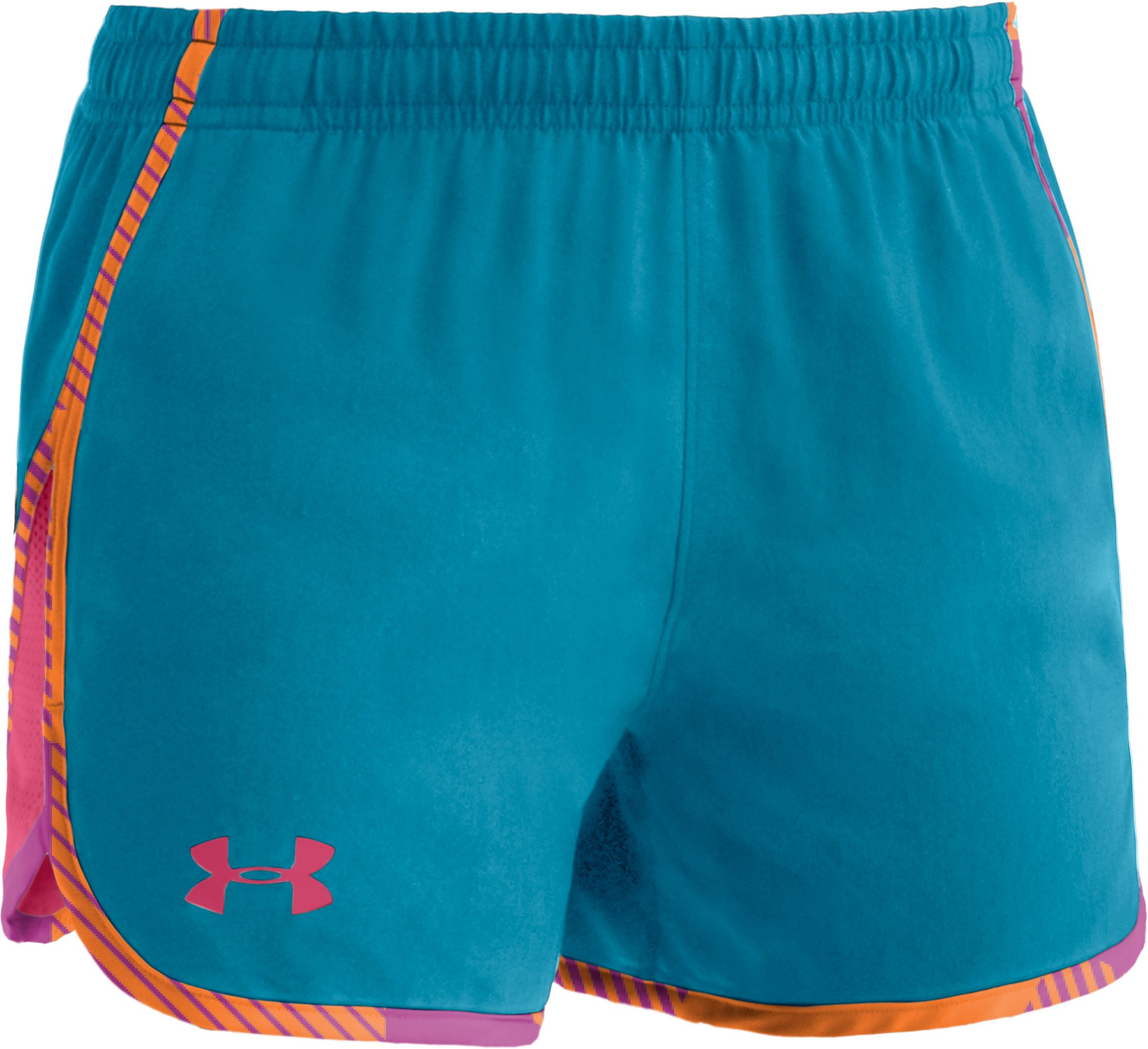 "Girls' UA Escape 3"" Shorts, Break, zoomed image"