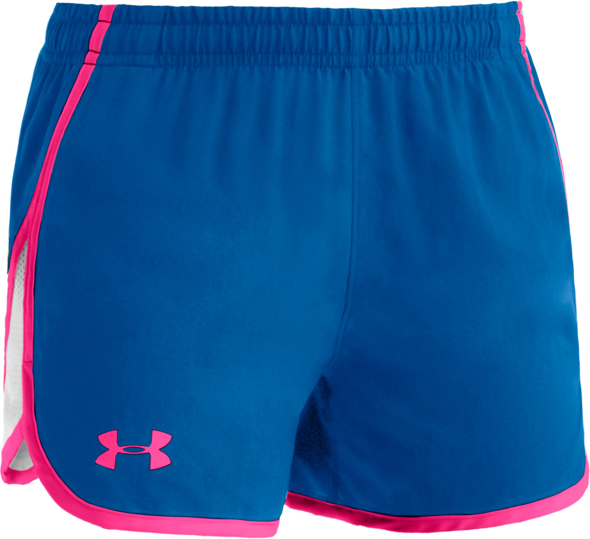 "Girls' UA Escape 3"" Shorts, Pool, zoomed image"