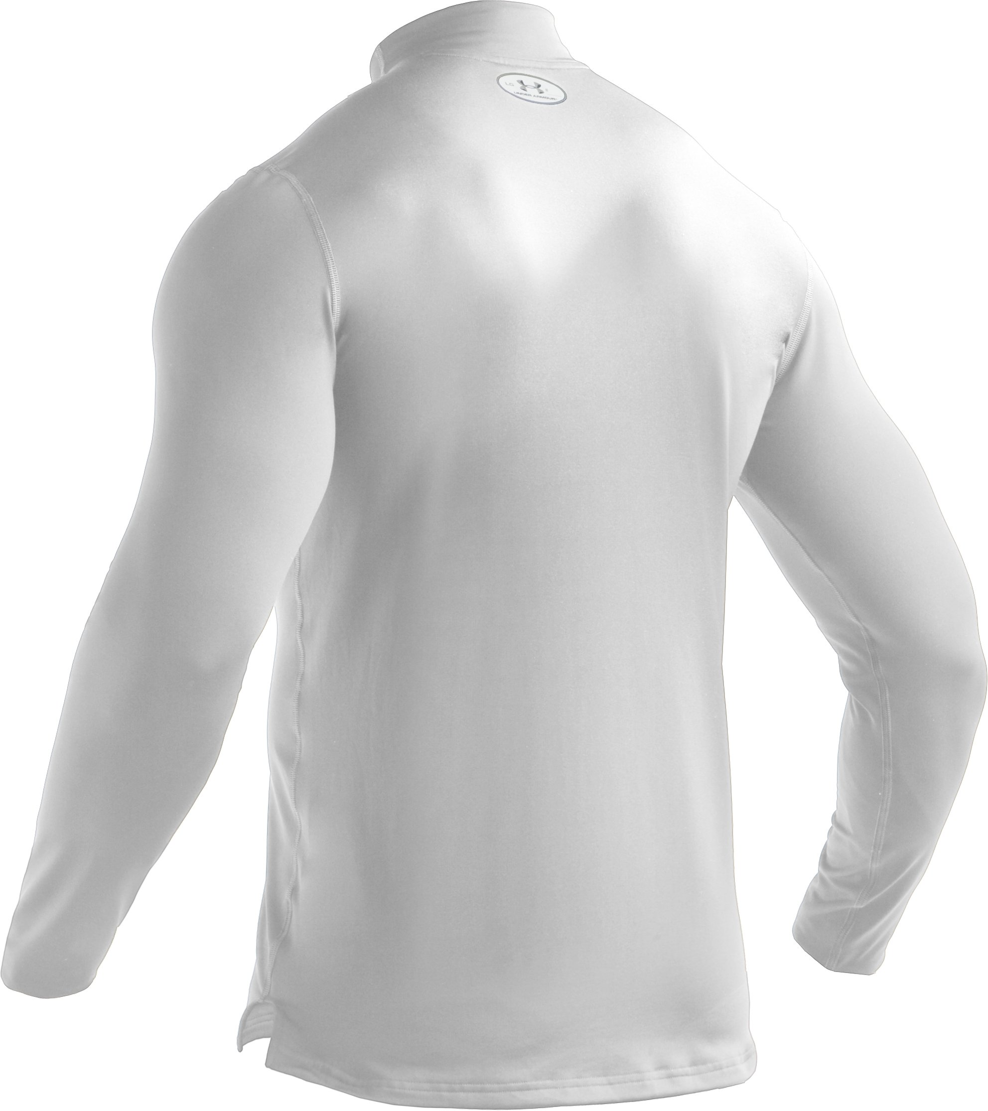 Men's ColdGear® Fitted Long Sleeve Mock, White